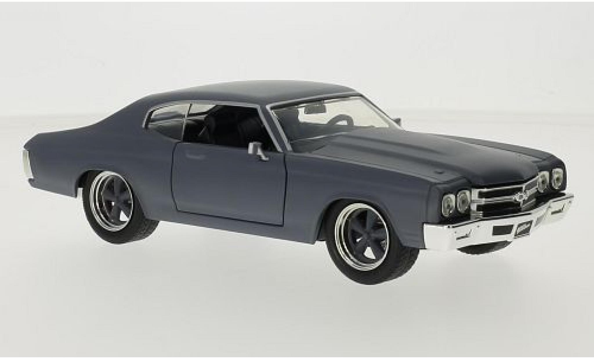 Chevrolet Chevelle 1/24 Jada Toys SS matt-grise Fast & Furious 1970 Doms