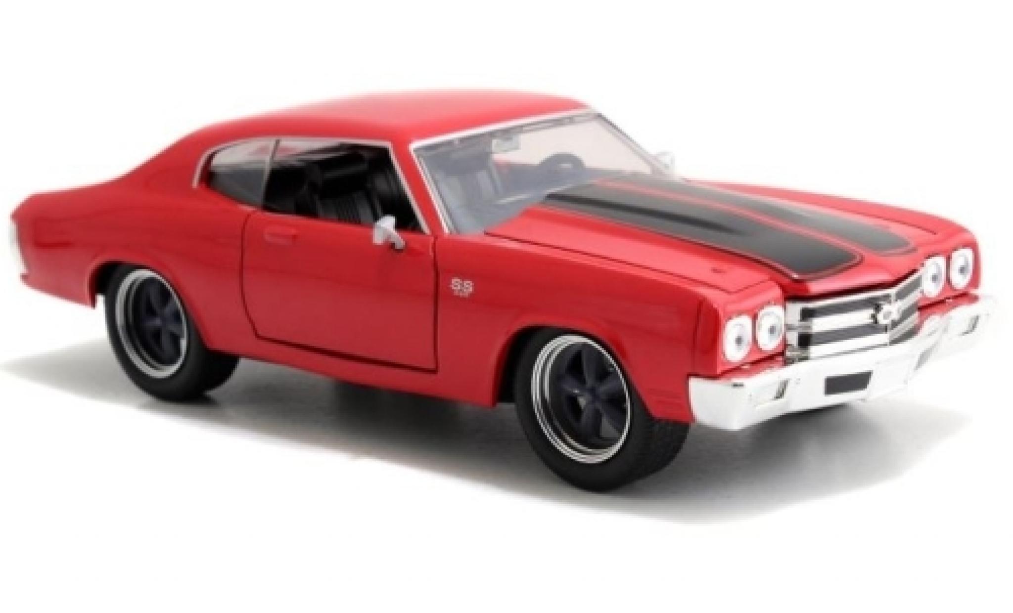 Chevrolet Chevelle 1/24 Jada SS rouge/noire Fast & Furious 1970 Doms sans Vitrine