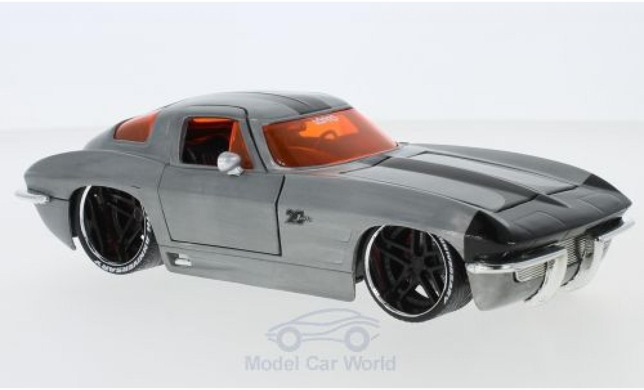 Chevrolet Corvette 1/24 Jada Sting Ray grey/black 1963