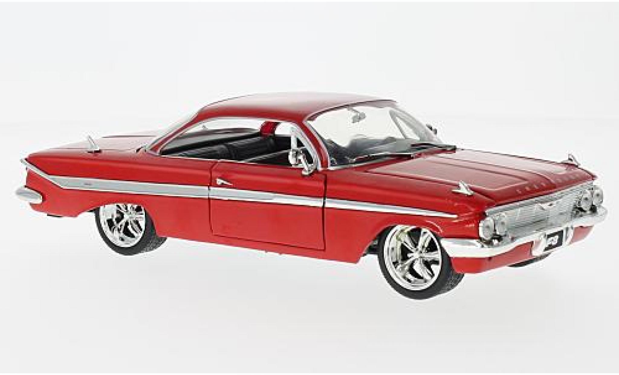 Chevrolet Impala 1/24 Jada Toys rouge Fast & Furious 8 Doms tuning sans Vitrine