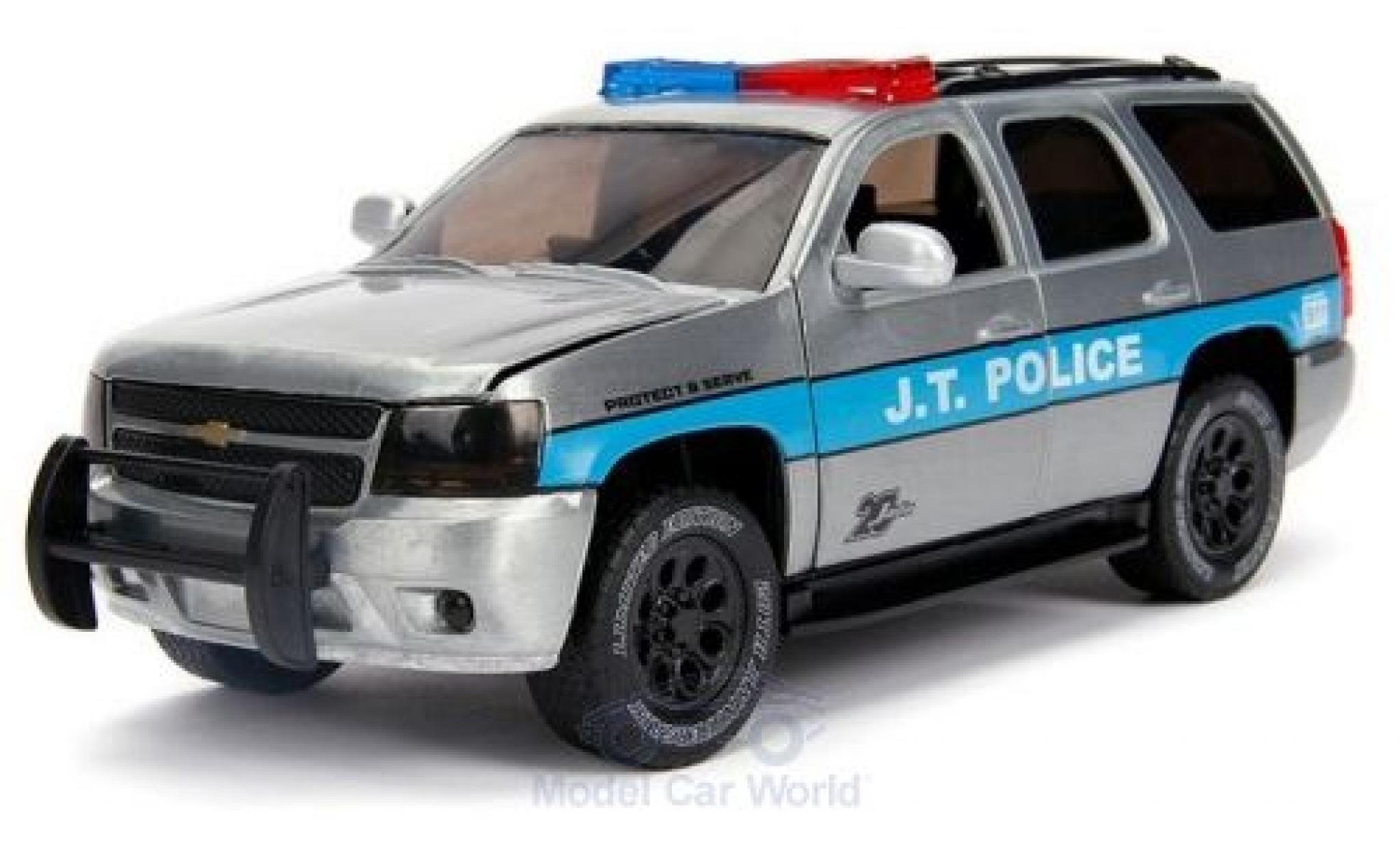 modellautos chevrolet tahoe 1 24 jada grau blau j t police. Black Bedroom Furniture Sets. Home Design Ideas