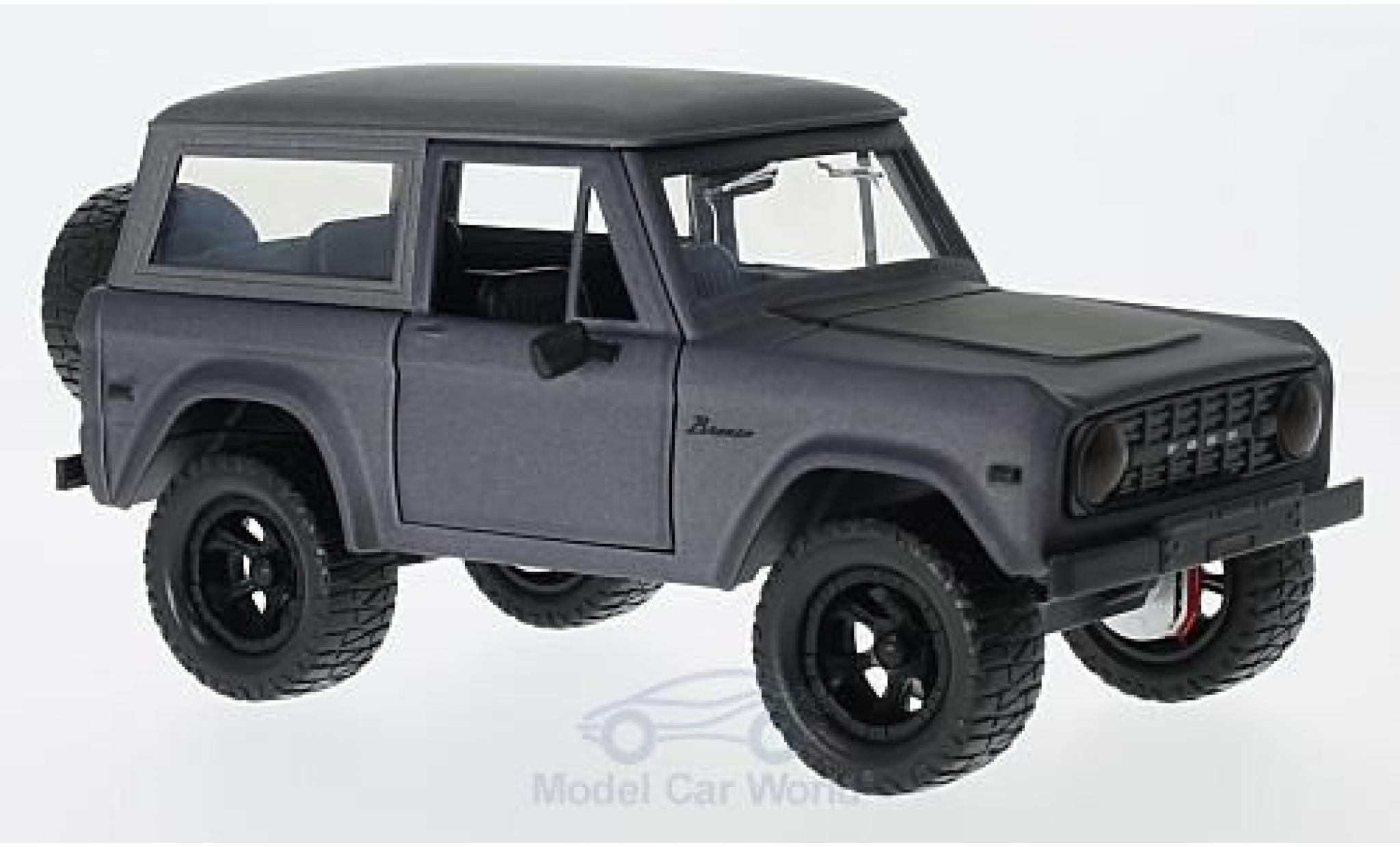 Ford Bronco 1/24 Jada Hardtop metallic grey/matt-black 1973 ohne Vitrine