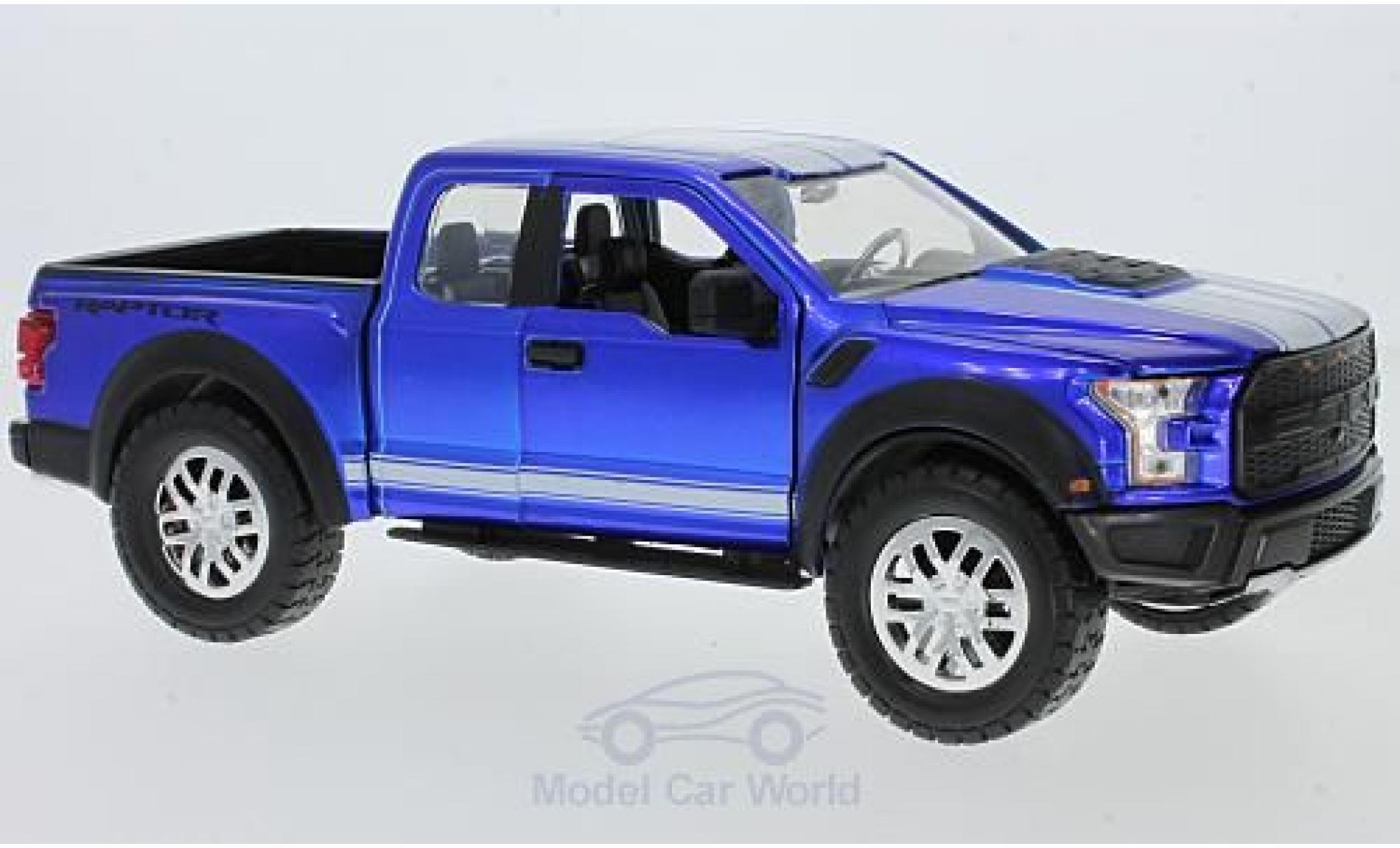 Ford F-1 1/24 Jada Toys 50 metallise bleue/blanche 2017 mit Tuningrädern