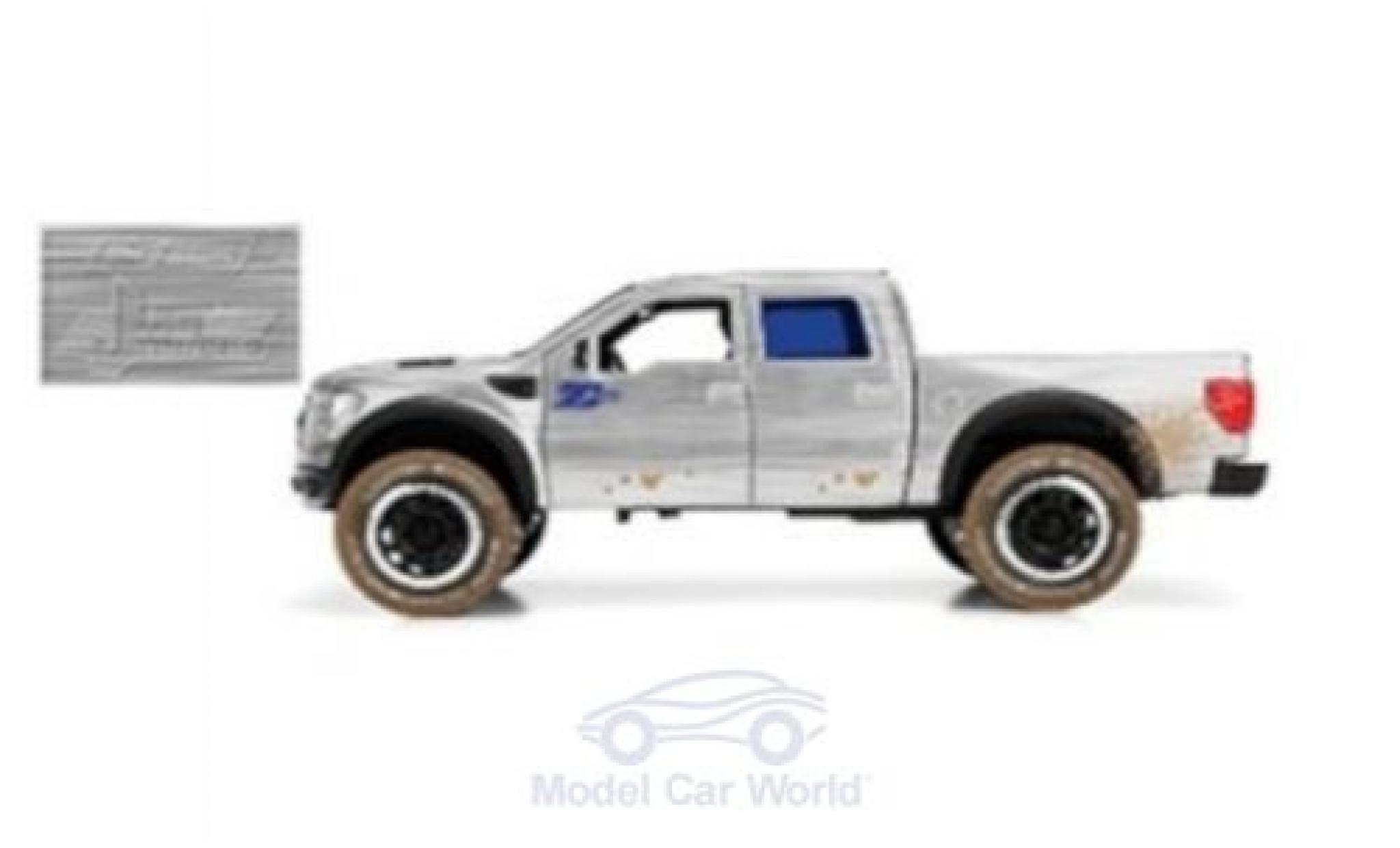 Ford F-1 1/24 Jada Toys Toys Toys Toys 50 SVT Raptor grise/bleue 2011 mit Schmutzeffekt