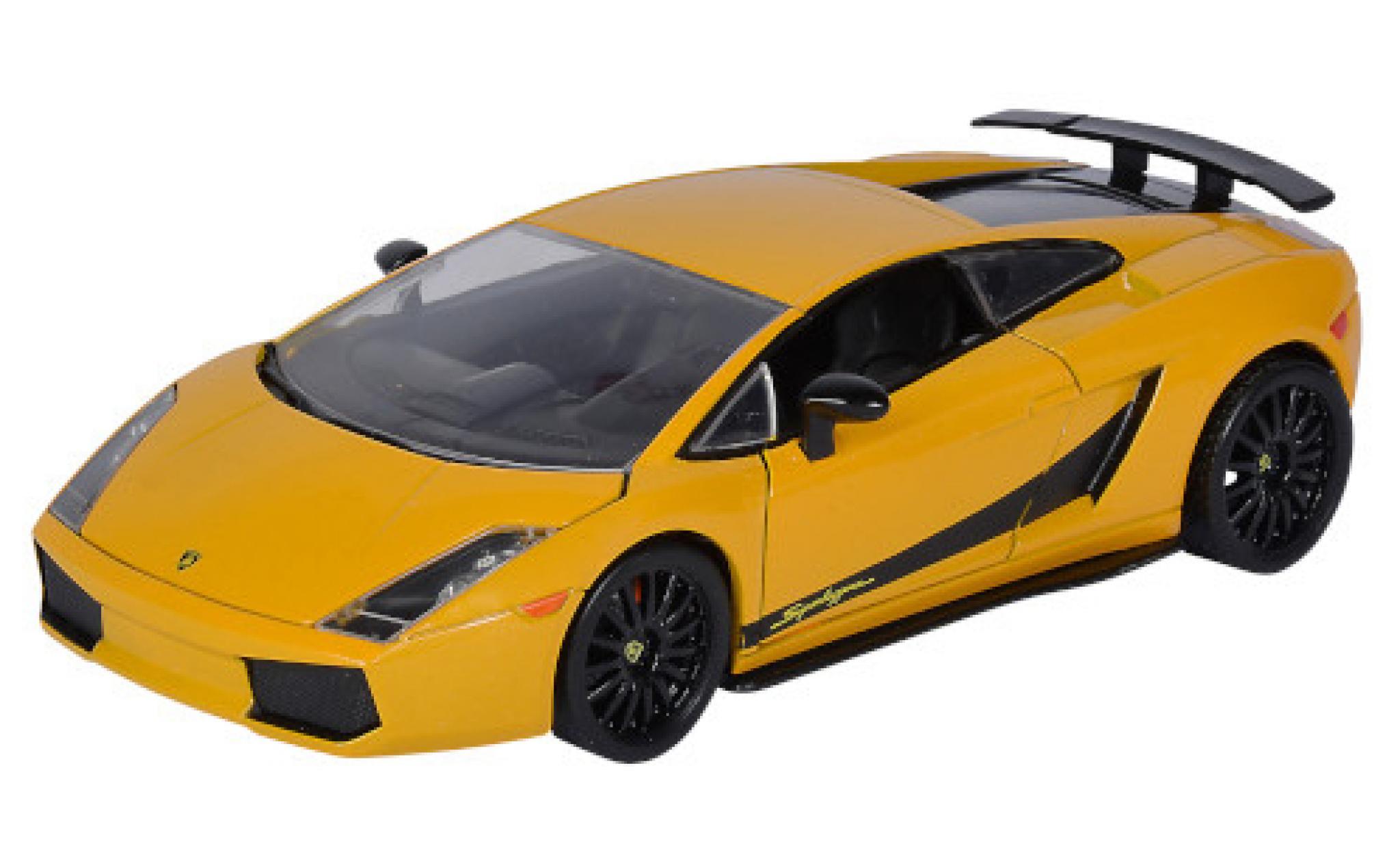 Lamborghini Gallardo 1/24 Jada Superleggera metallise jaune/Dekor Fast & Furious