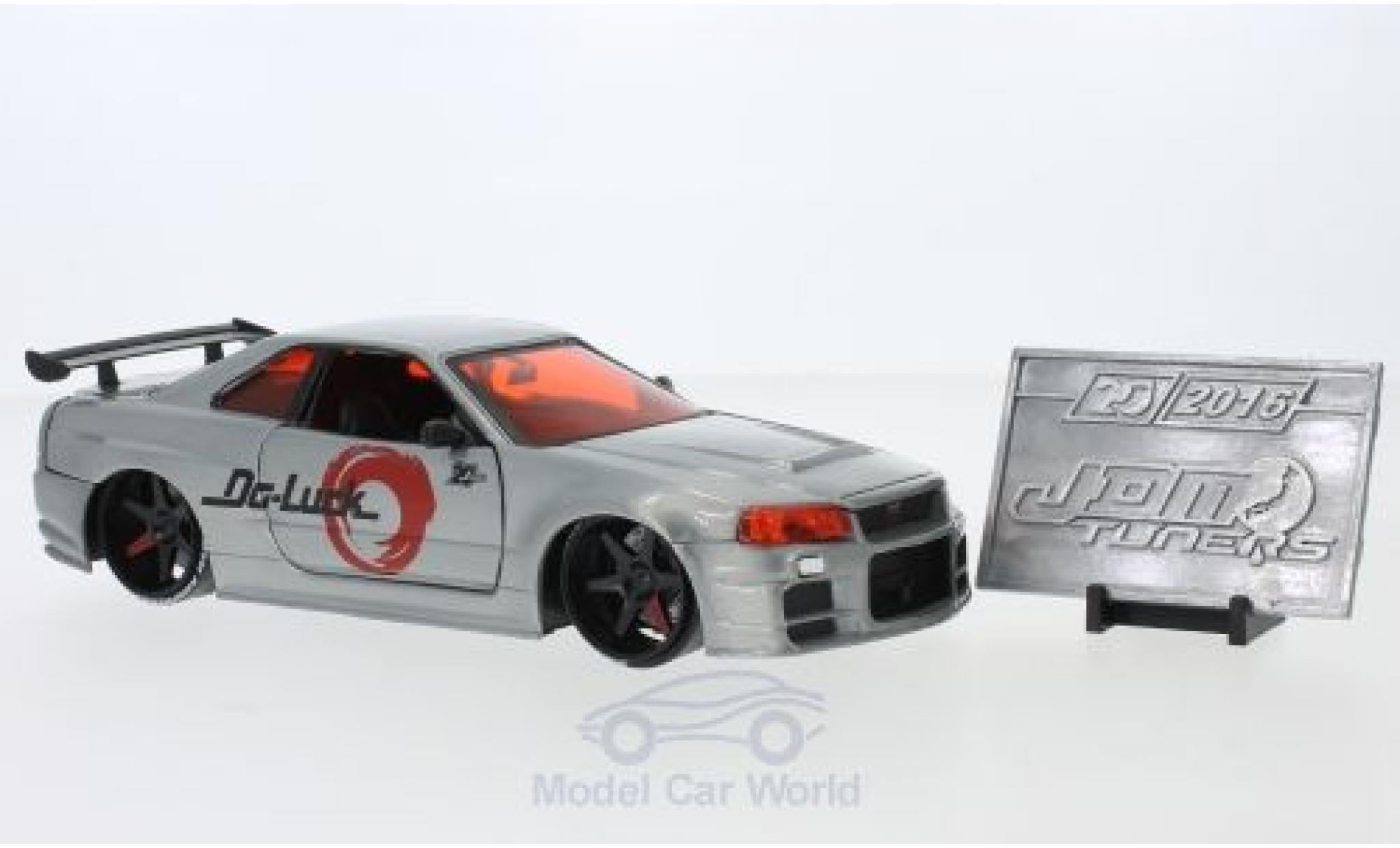 Nissan Skyline 1/24 Jada Toys Toys Toys Toys GTR (R34) silber RHD 2002