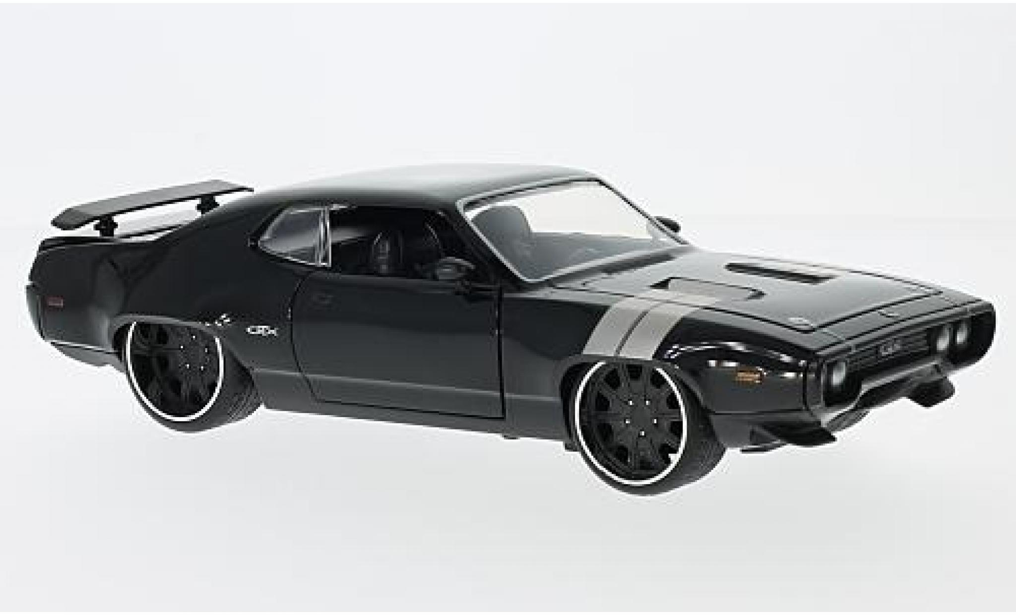 Plymouth GTX 1/24 Jada Tuning noire Fast & Furious sans Vitrine