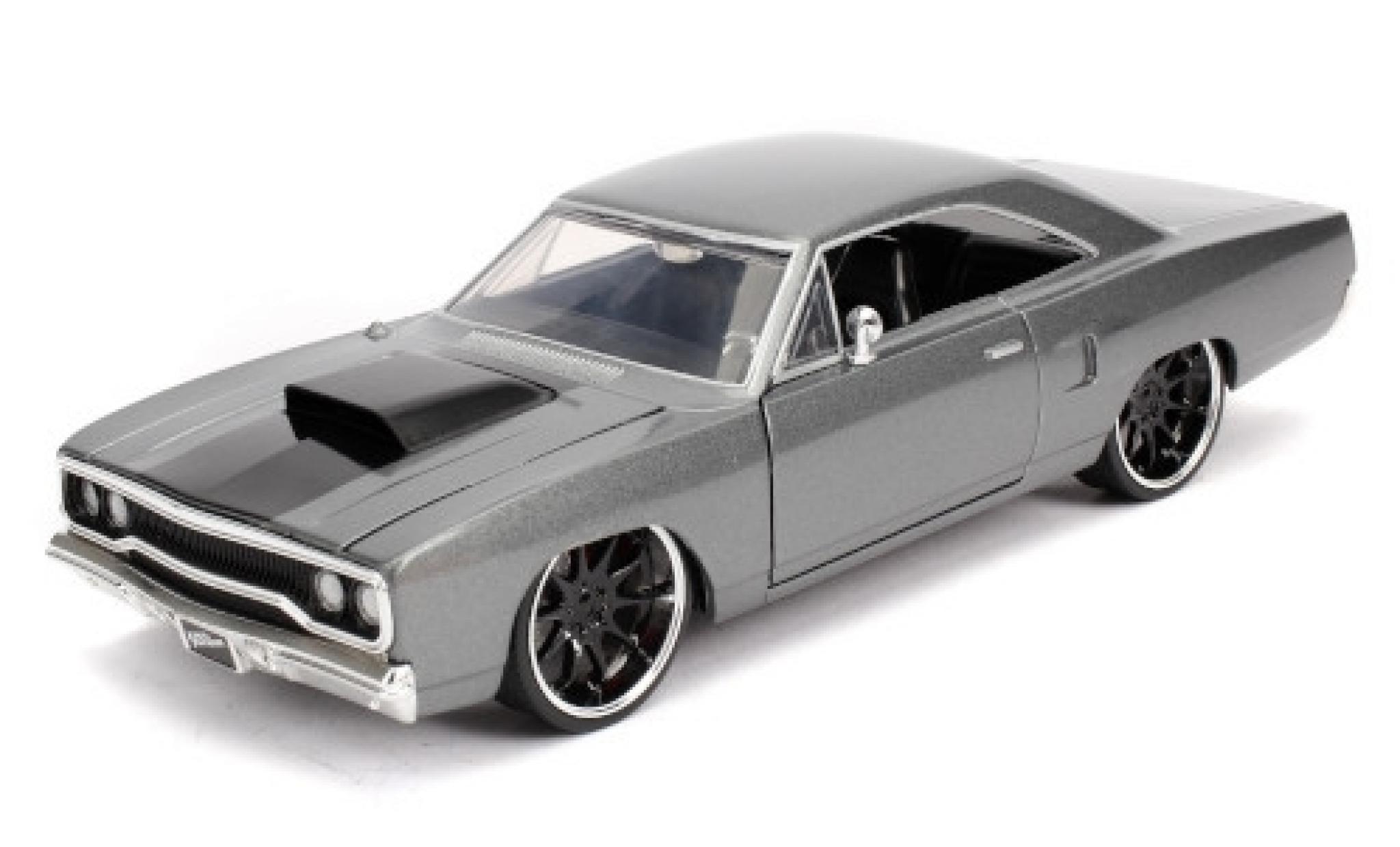 Plymouth Road Runner 1/24 Jada Tuning metallise grey/matt-black Fast & Furious 1970
