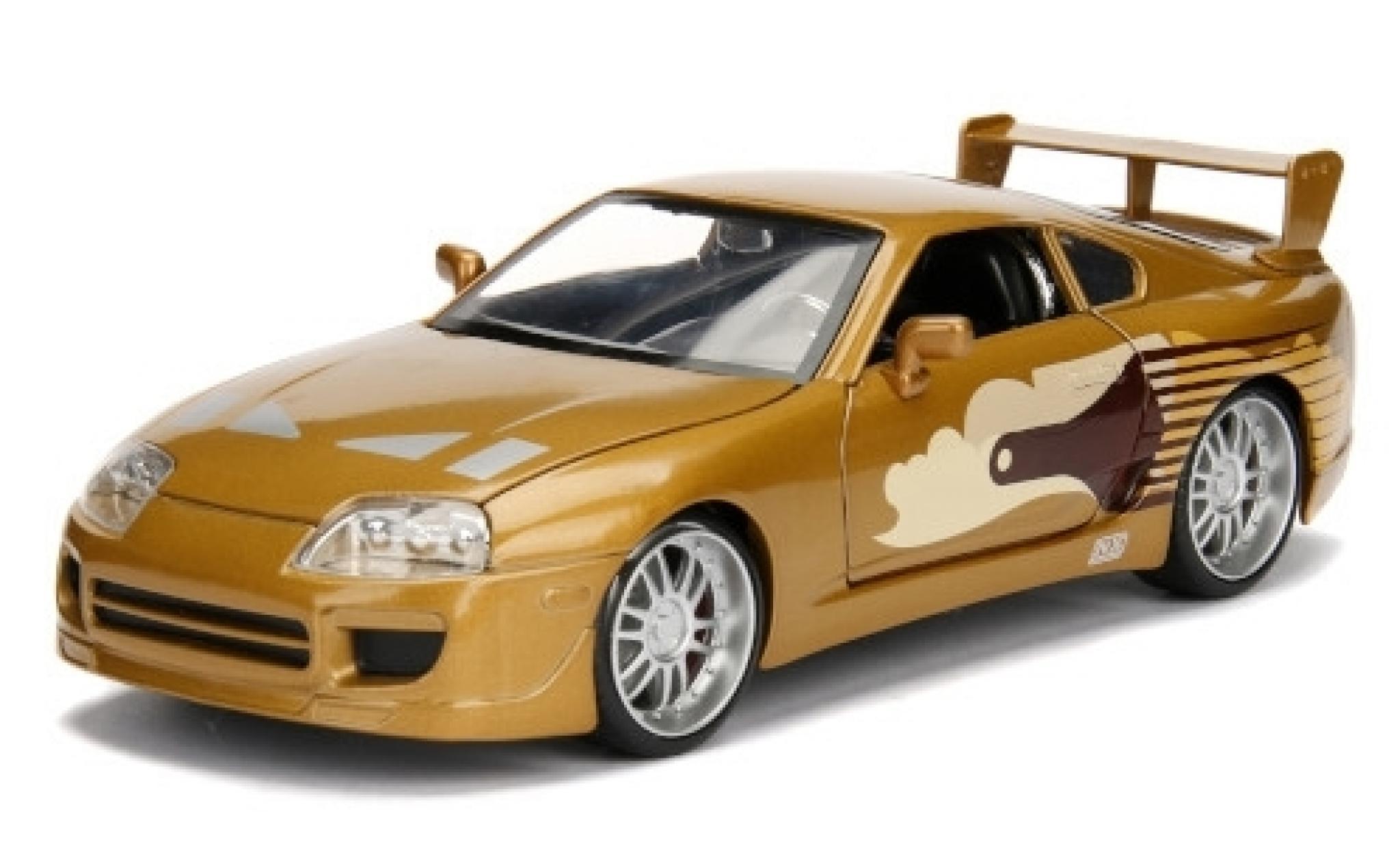 Toyota Supra 1/24 Jada Tuning metallise brown/Dekor Fast & Furious 1995