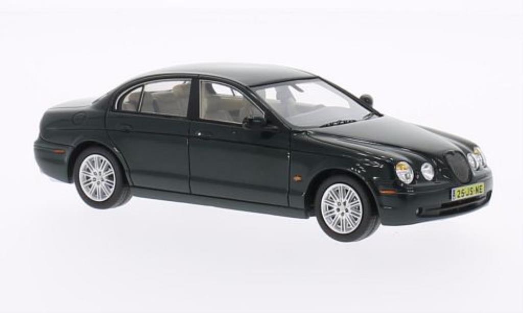 Jaguar S-Type 1/43 Neo grun 2004 diecast model cars