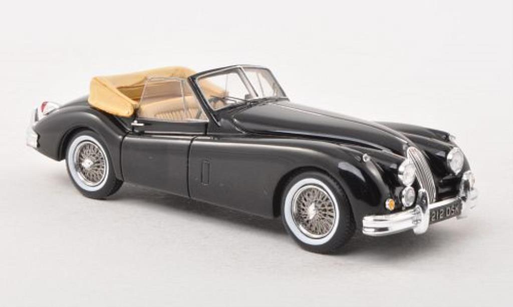 Jaguar XK 140 1/43 Spark Drophead Coupe noire miniature