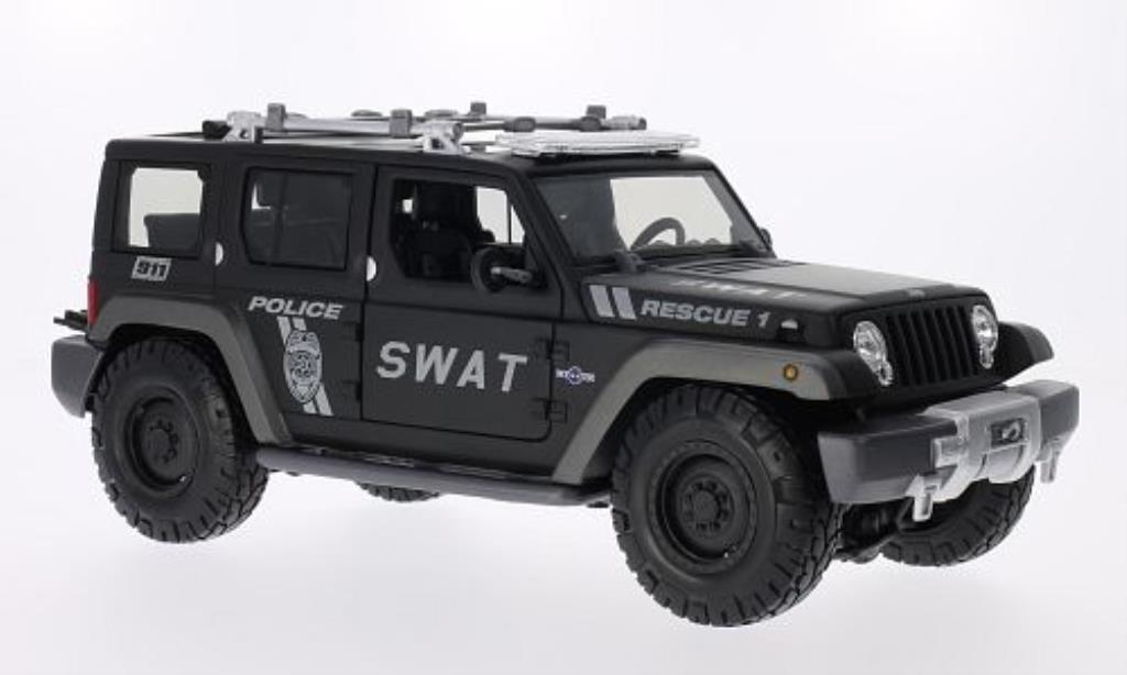 Jeep Rescue 1/18 Maisto Concept Police miniature