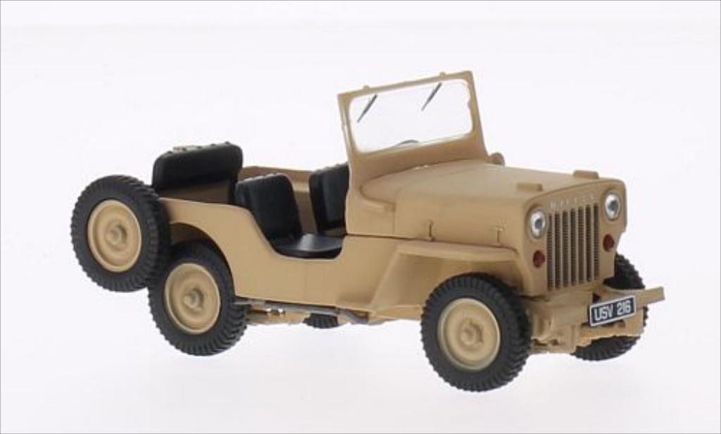 jeep willys cj3b matt beige 1953 mcw modellauto 1 43 kaufen verkauf modellauto online. Black Bedroom Furniture Sets. Home Design Ideas