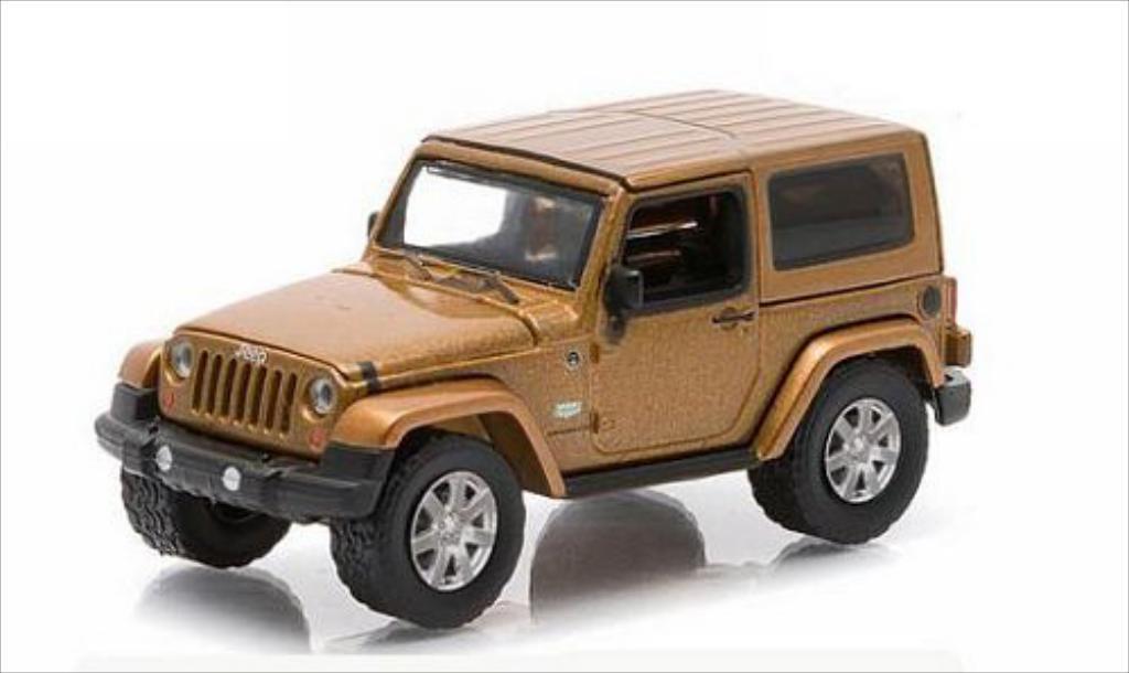 Jeep Wrangler 1/64 Greenlight bronze 2011 miniature