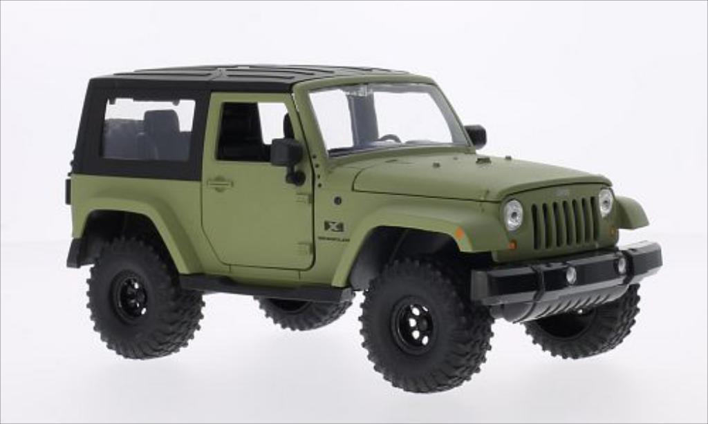 Jeep Wrangler 1/24 Jada Toys Toys matt-oliv/noire 2007 miniature