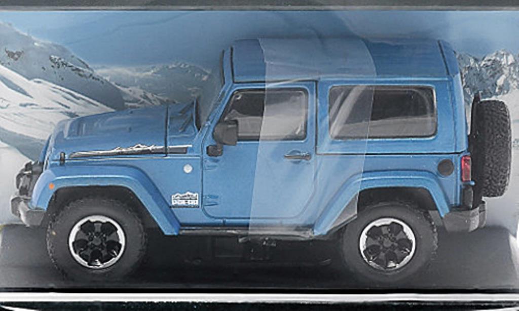 Jeep Wrangler 1/43 Greenlight Polar Edition bleu 2014 diecast model cars