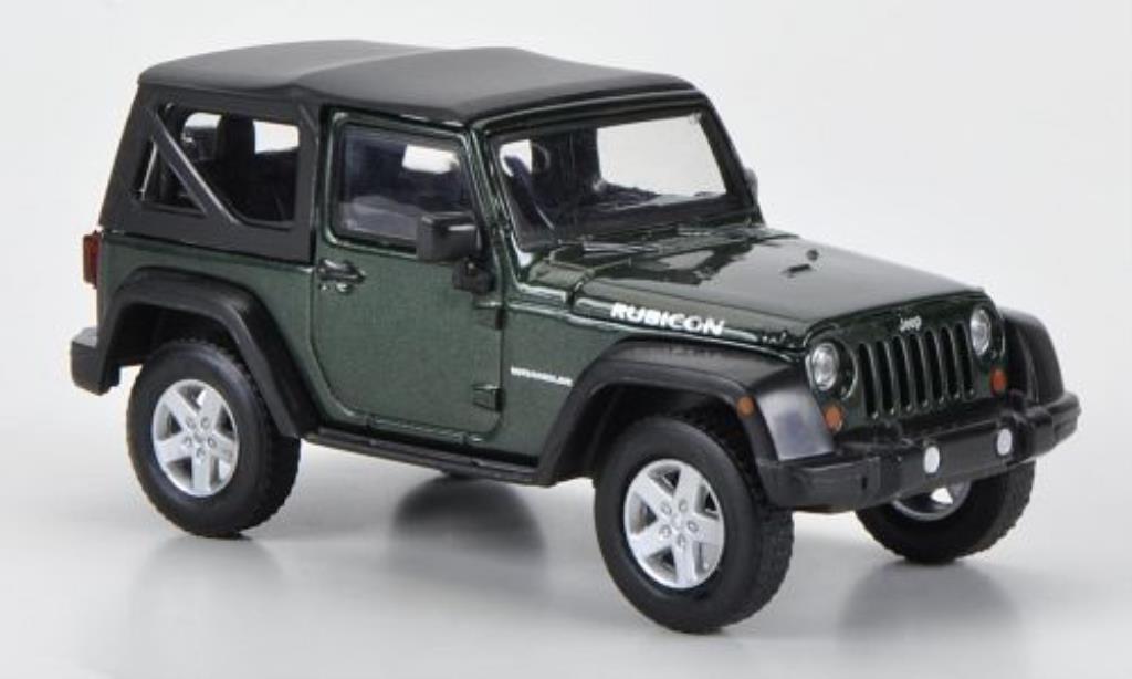 Jeep Wrangler 1/43 Greenlight Rubicon Softtop grun 2012 diecast model cars