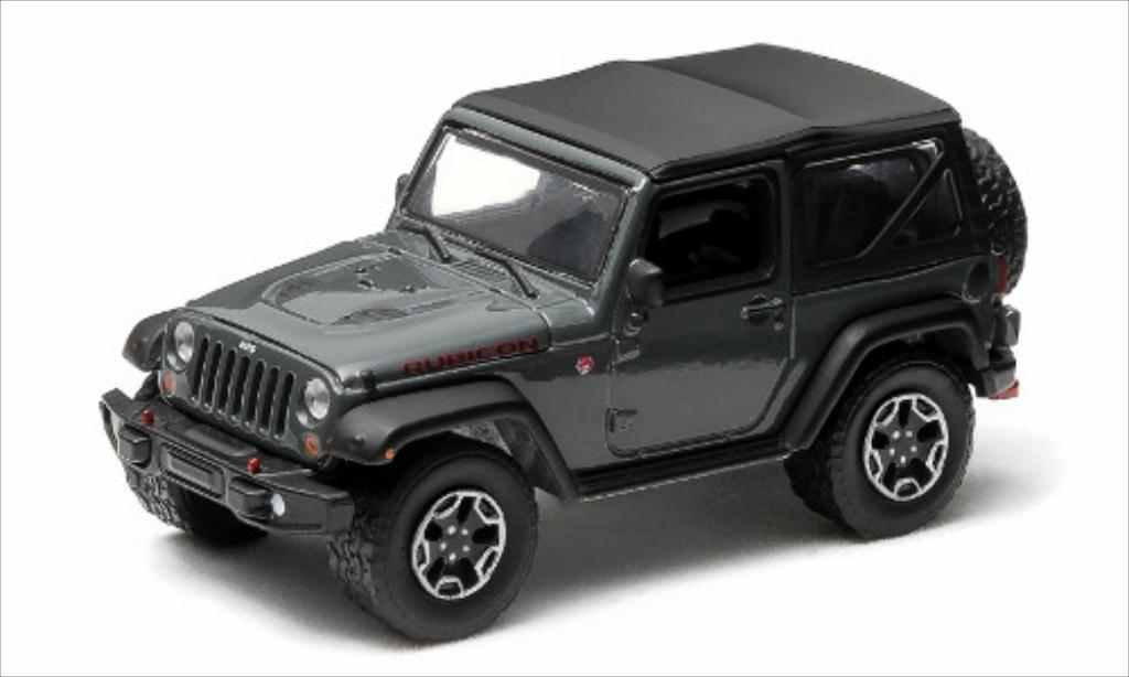 Jeep Wrangler 1/64 Greenlight Rubicon X grise 2014 miniature