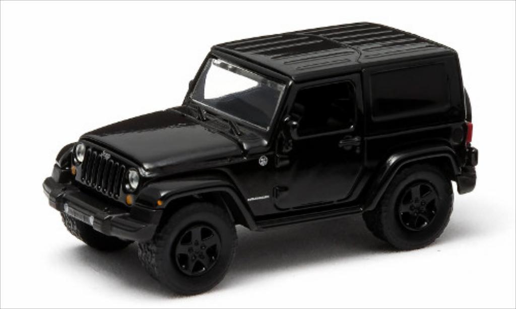Jeep Wrangler 1/64 Greenlight noire/Dekor 2014 miniature