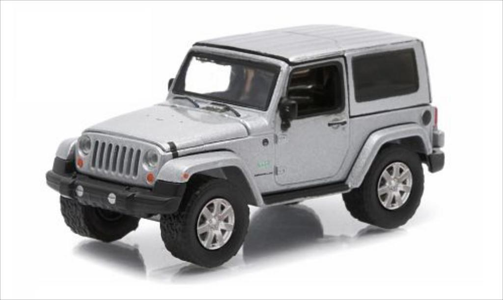 Jeep Wrangler 1/64 Greenlight grise 2011 miniature