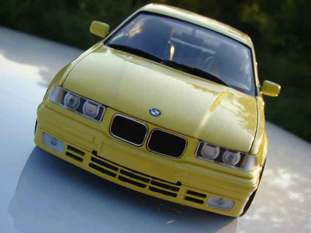 Bmw 325 E36 1/18 Ut Models e36 coupe yellow kitee m3