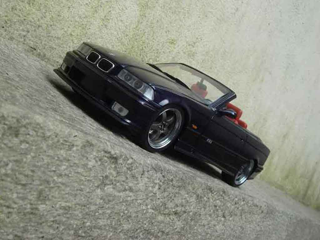 Bmw M3 E36 cabriolet 1/18 Ut Models jantes kinesis tuning modellino in miniatura