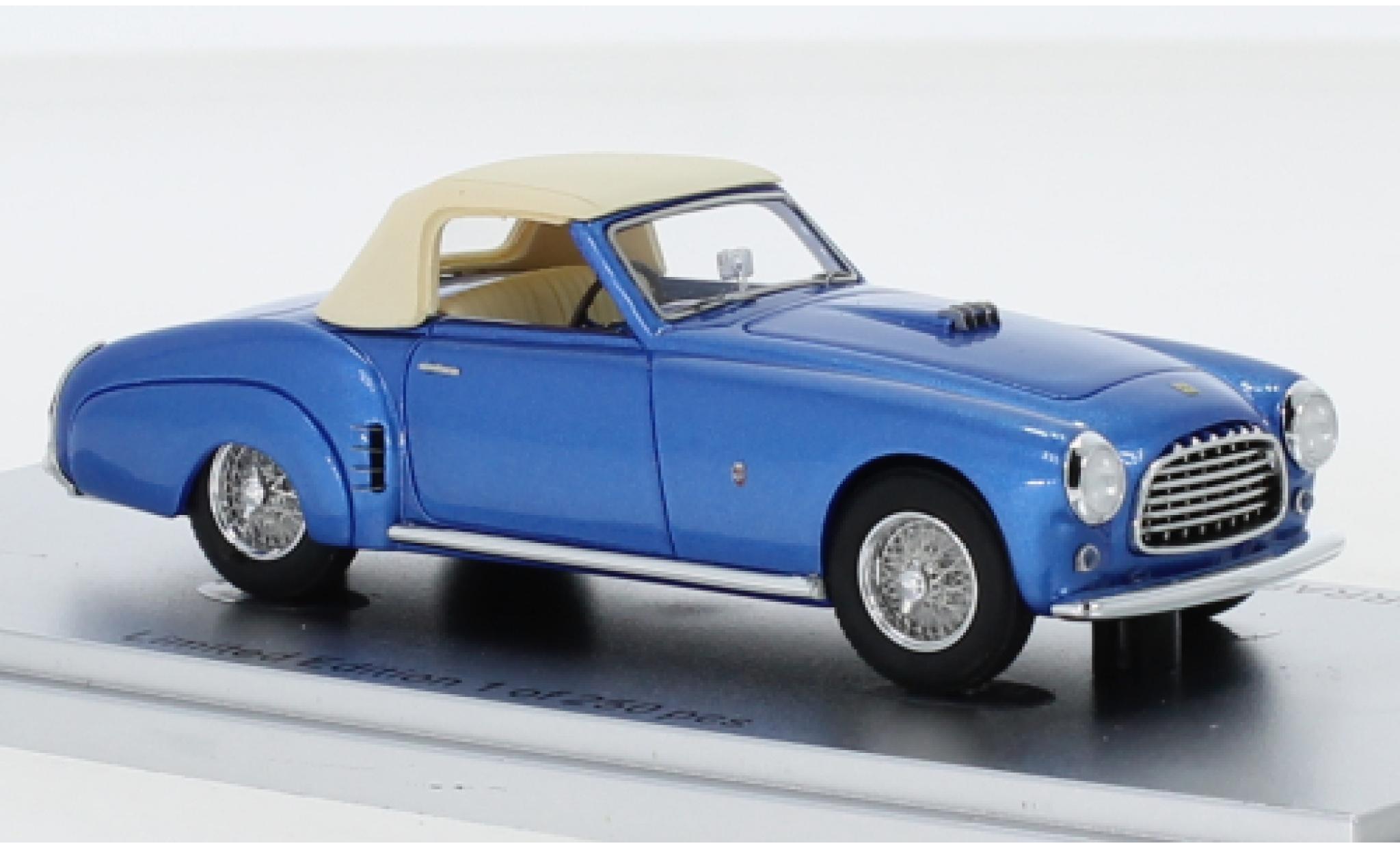 Ferrari 212 1/43 Kess Inter Ghia Cabriolet metallise bleue RHD 1952 Verdeck fermé châssis No.0233eu