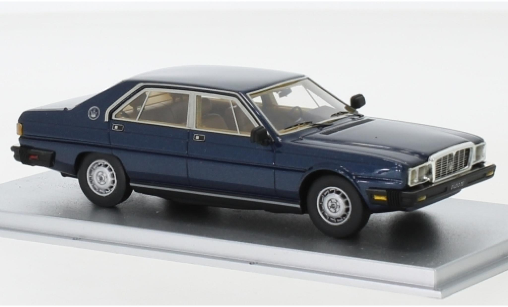 Maserati Quattroporte 1/43 Kess III 4.9 metallise bleue 1983