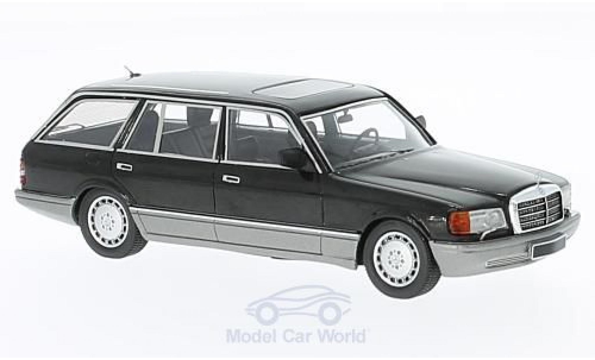 Mercedes 560 1/43 Kess TEL Kombi (W126) noire 1990