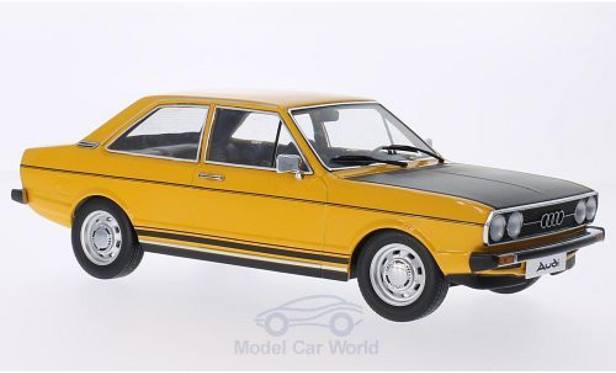 Audi 80 1/18 KK Scale GTE jaune/matt-noire Türen und Hauben sind nicht zu öffnen