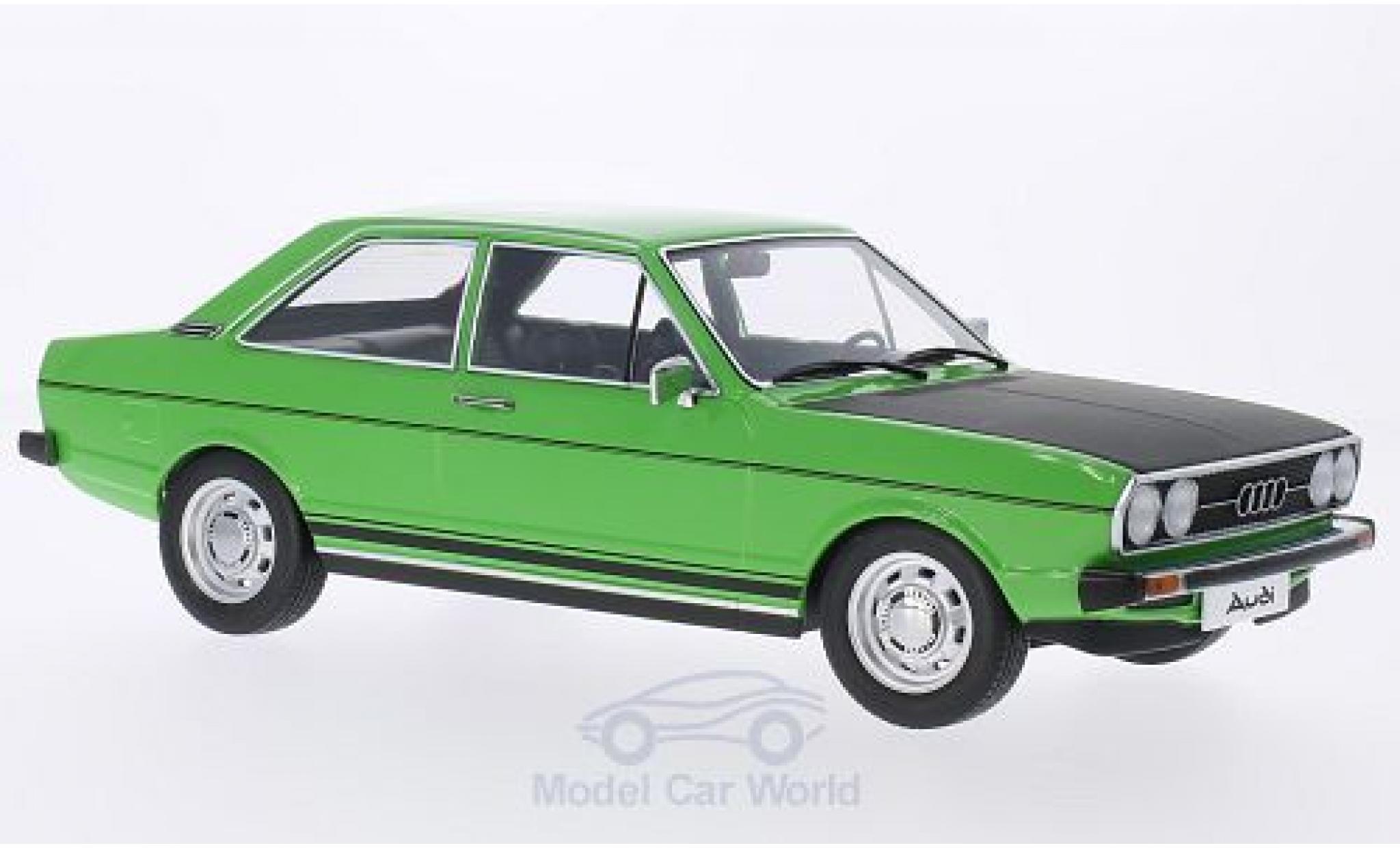 Audi 80 1/18 KK Scale GTE verte/matt-noire 1975 Türen und Hauben sind nicht zu öffnen