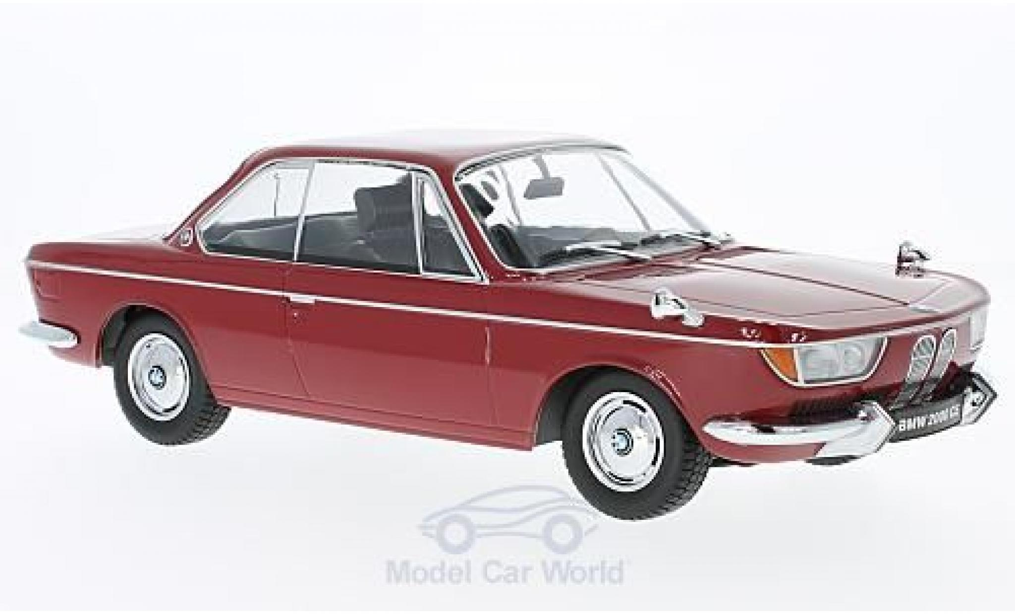 Bmw 2000 CS 1/18 KK Scale BMW CS dunkelrouge 1965