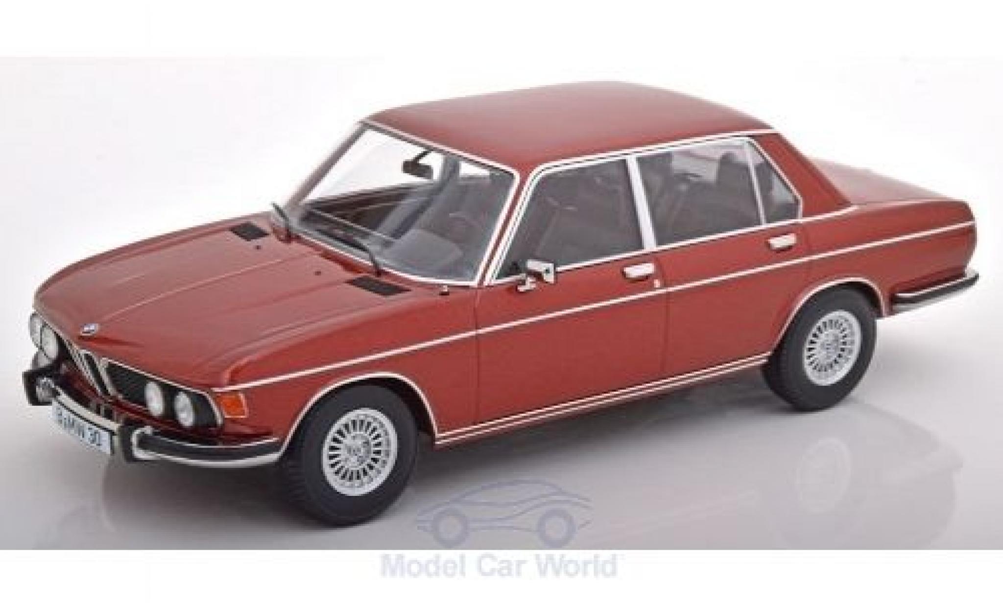 Bmw 3.0 1/18 KK Scale S (E3) metallise rouge 1971