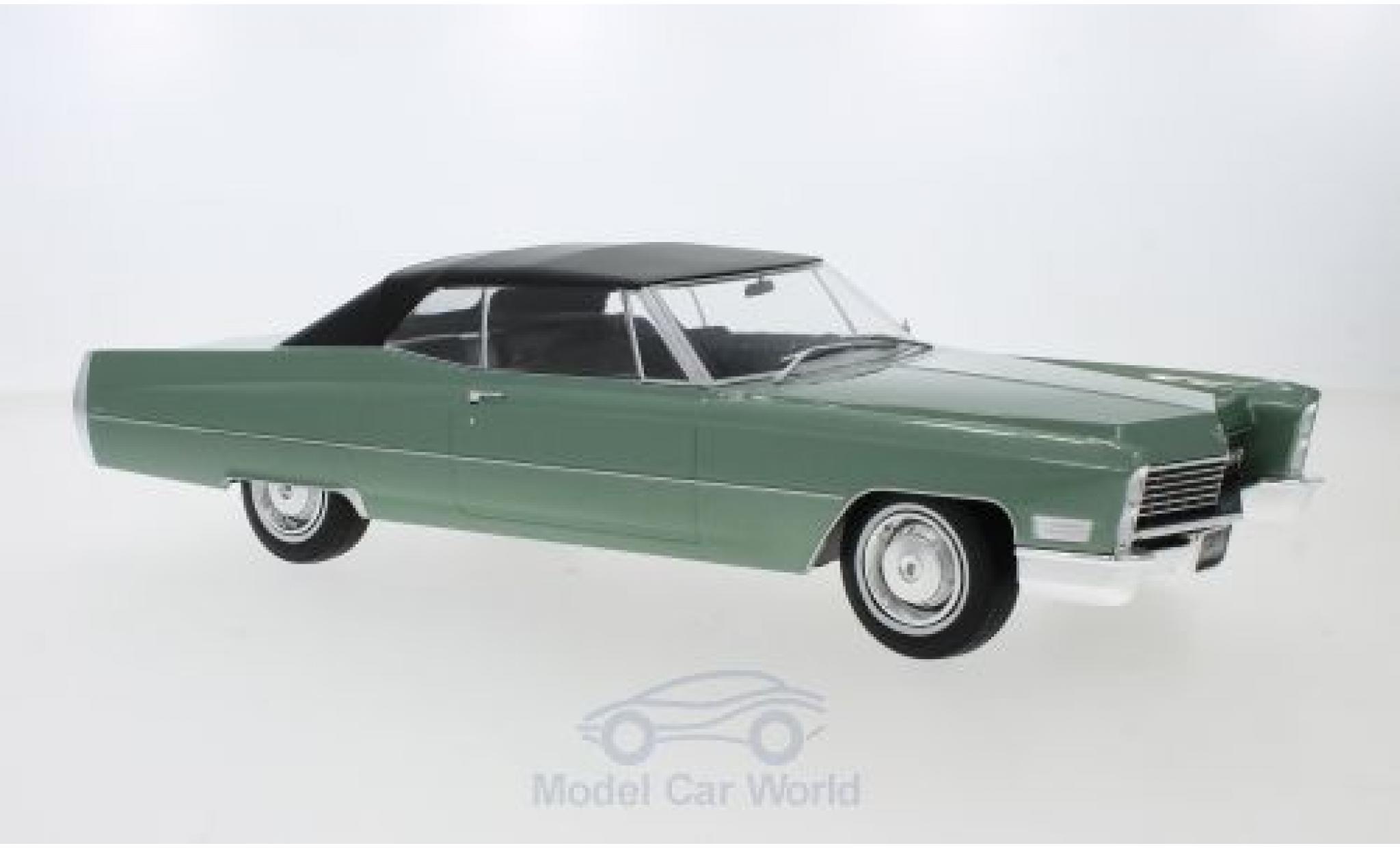 Cadillac Deville 1/18 KK Scale DeVille Convertible metallise verte/noire 1968 mit Softtop