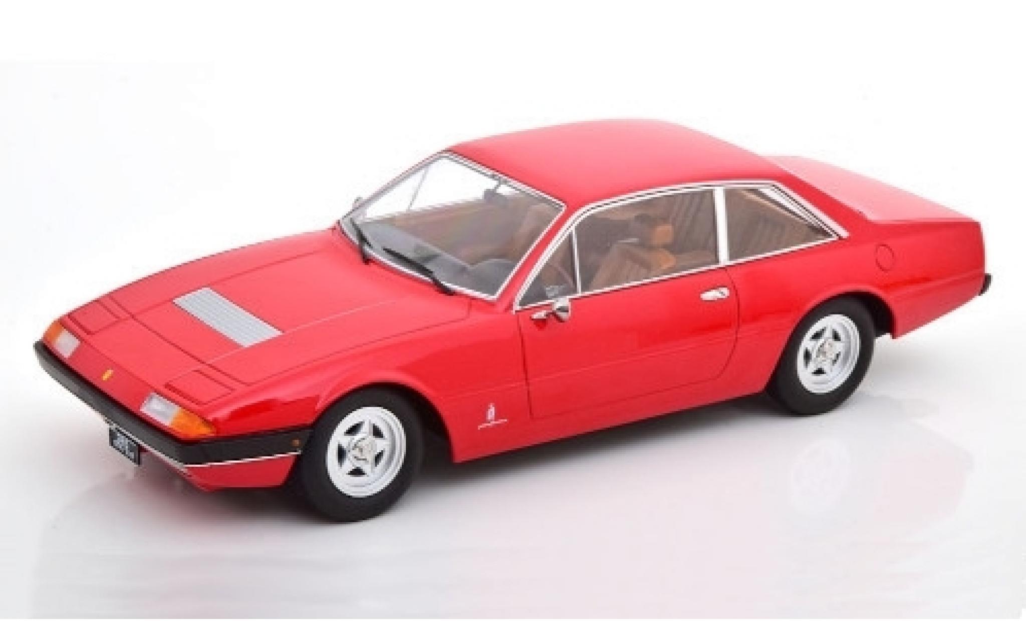 Ferrari 365 1/18 KK Scale GT4 2+2 rouge 1972 Interieurfarbe: brun
