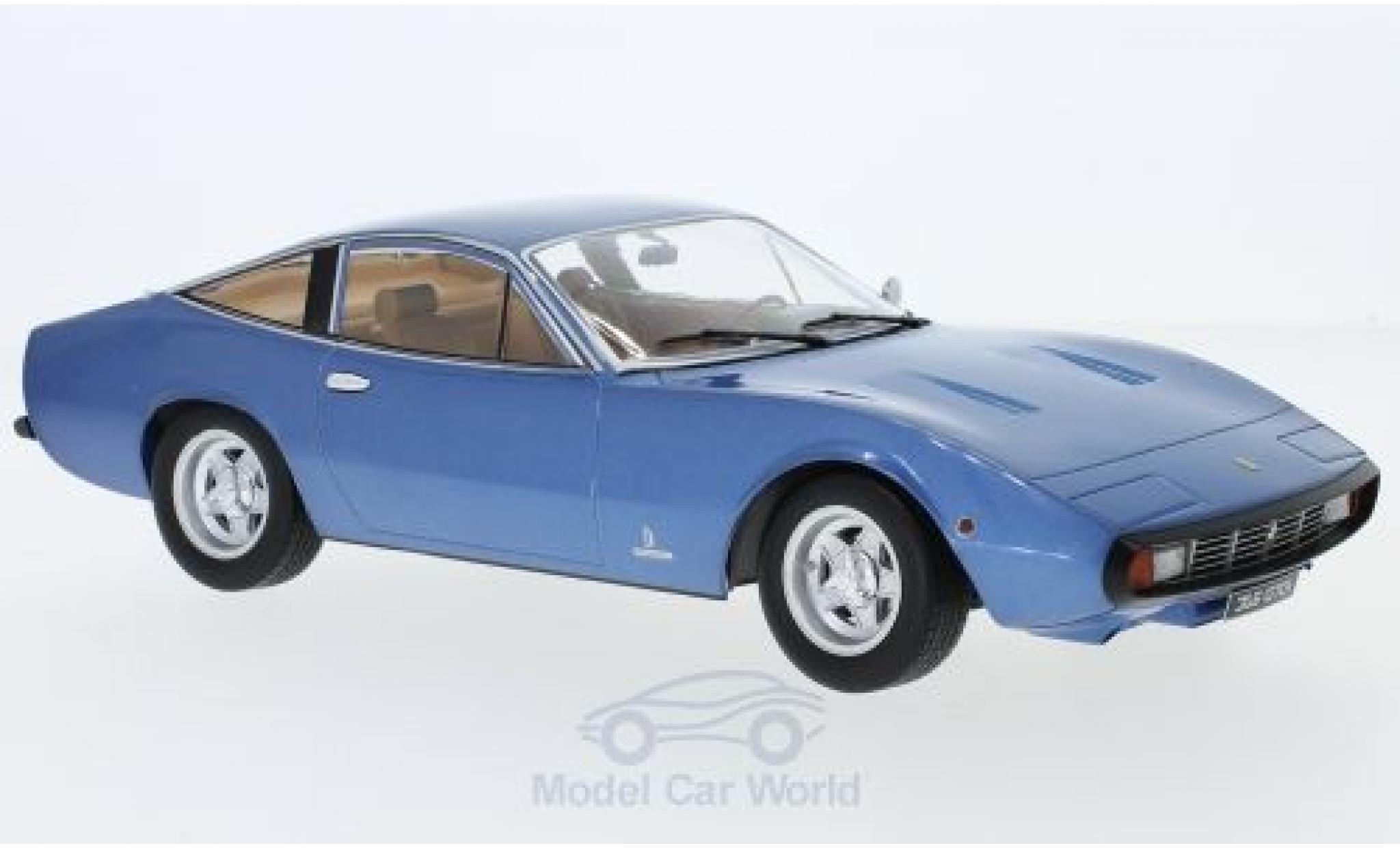Ferrari 365 1/18 KK Scale GTC/4 metallise azul 1971
