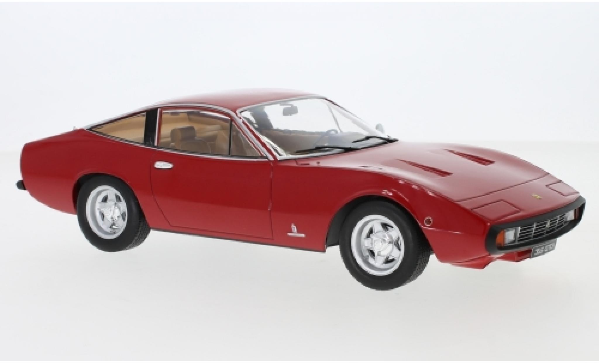 Ferrari 365 1/18 KK Scale GTC 4 rouge 1971 Interieur: marron