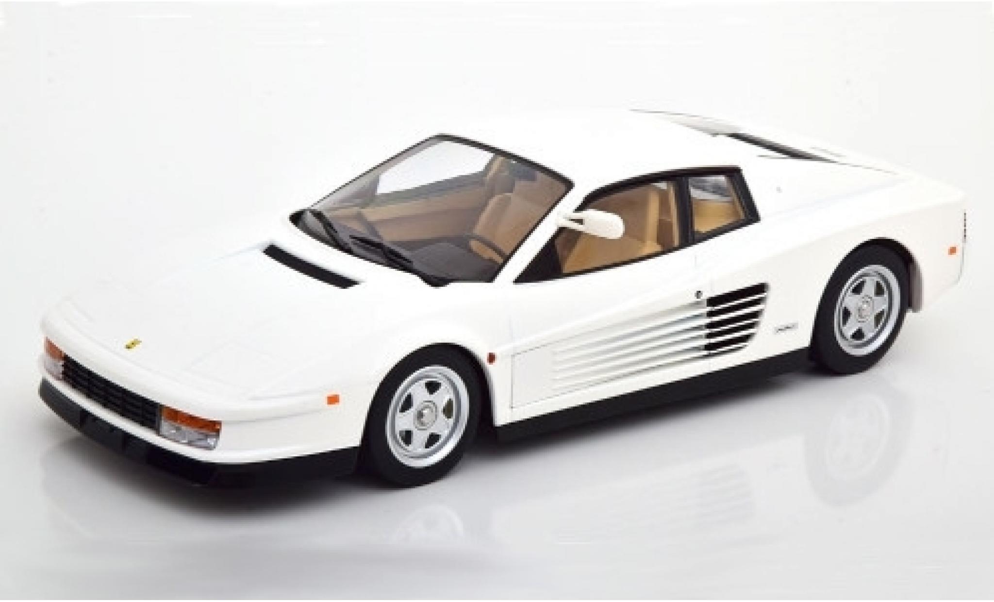 Ferrari Testarossa 1/18 KK Scale blanche 1984 Monospecchio US-Version