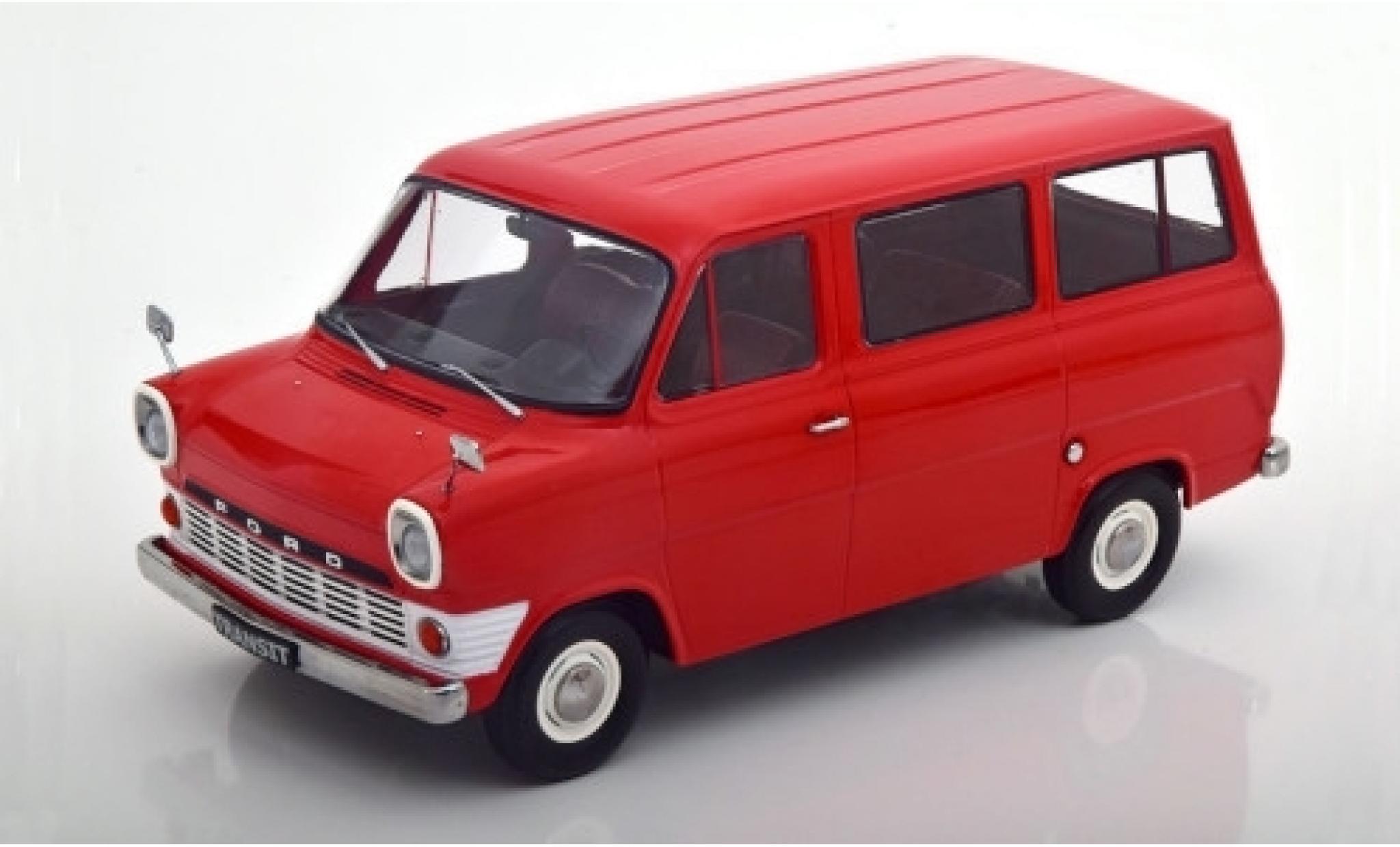 Ford Transit 1/18 KK Scale Mk1 Bus rouge 1965