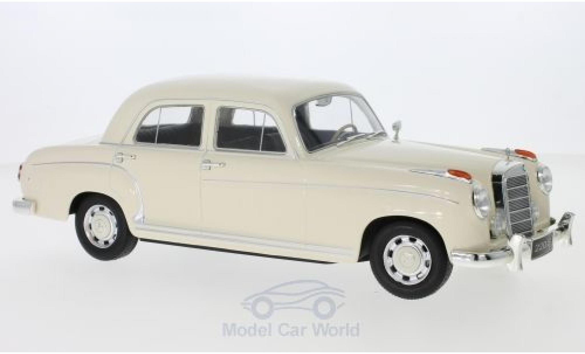 Mercedes 220 1/18 KK Scale S Limousine (W180 II) beige 1956