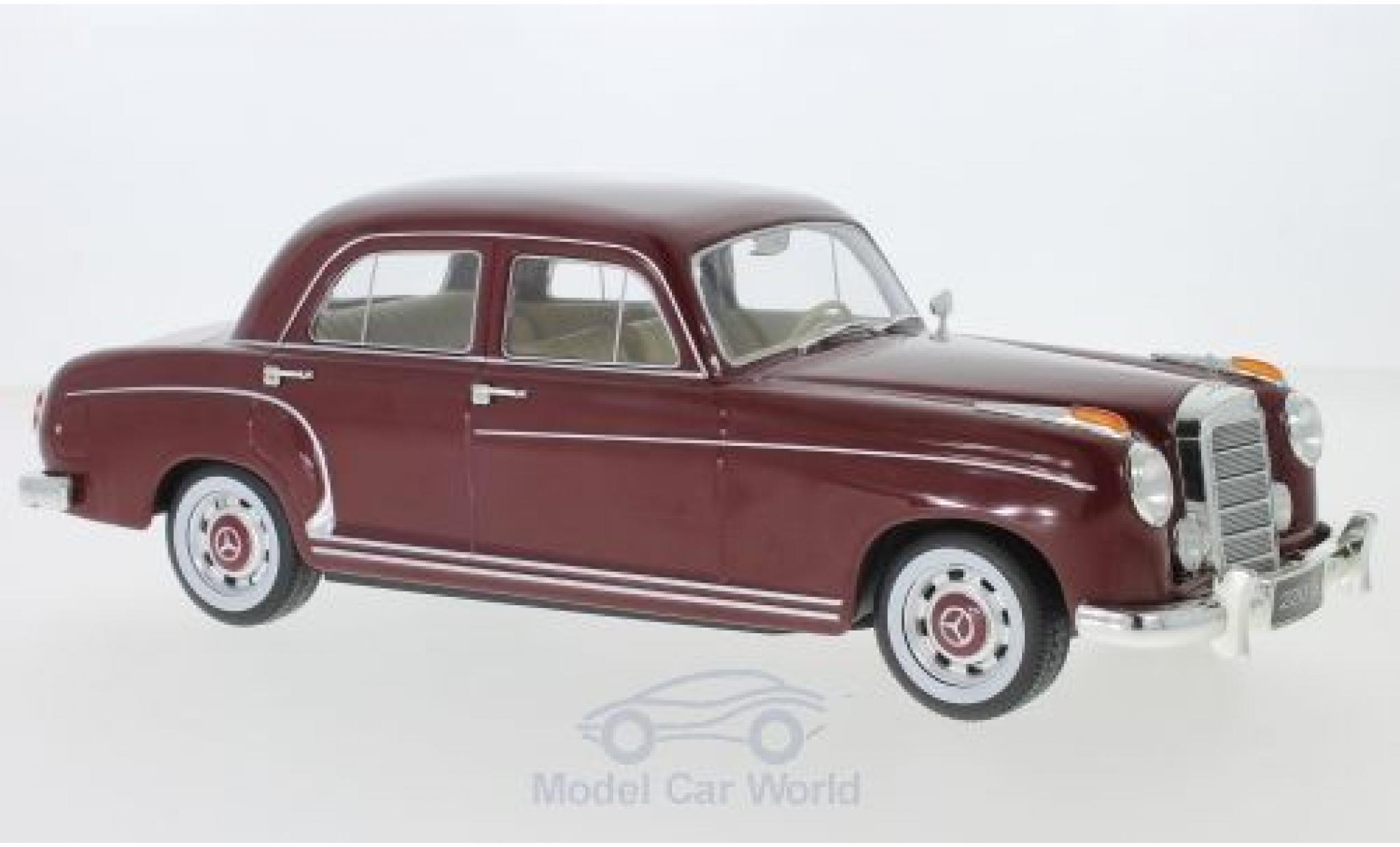 Mercedes 220 1/18 KK Scale S Limousine (W180 II) rouge 1956
