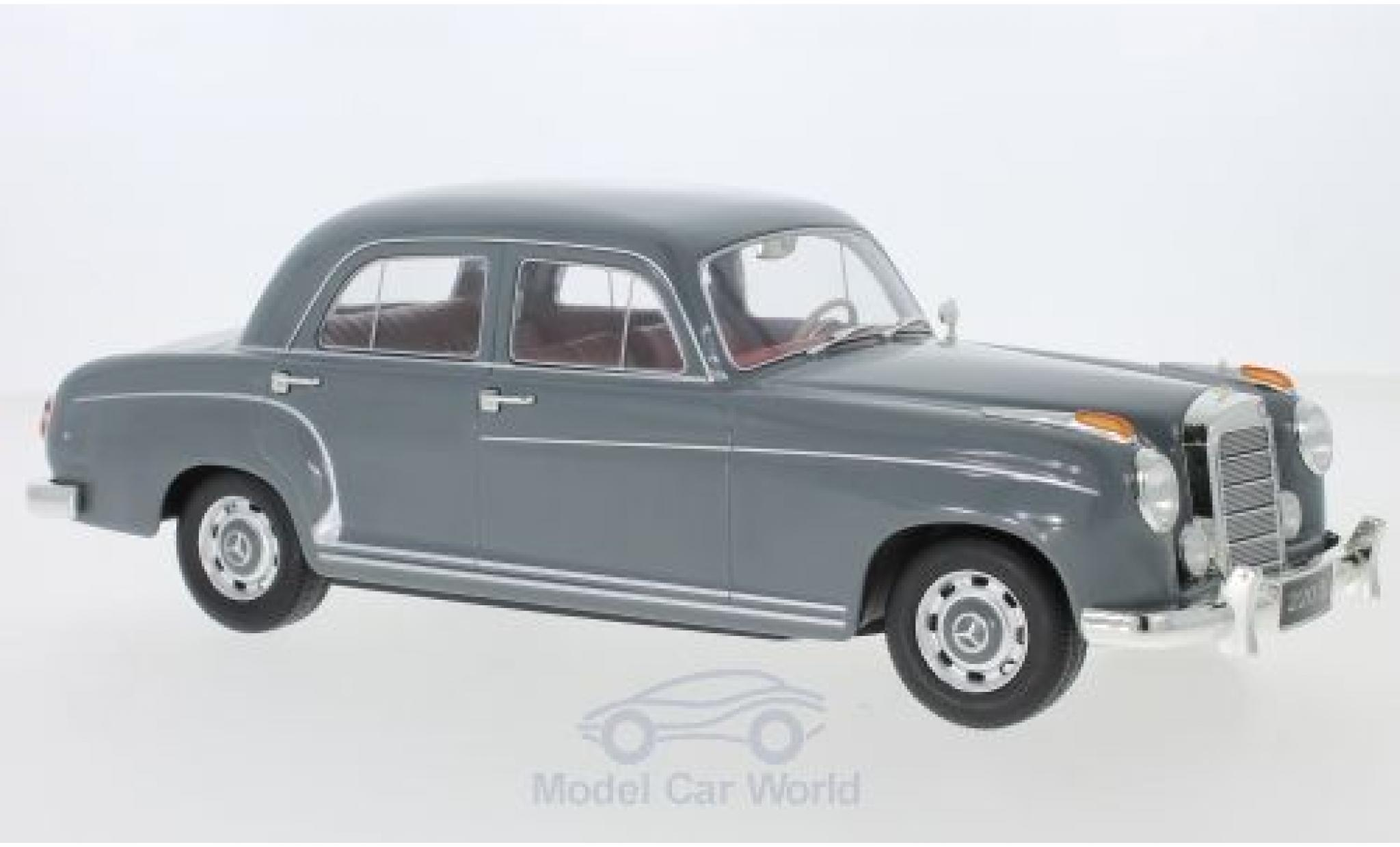 Mercedes 220 1/18 KK Scale S Limousine (W180 II) grise 1956
