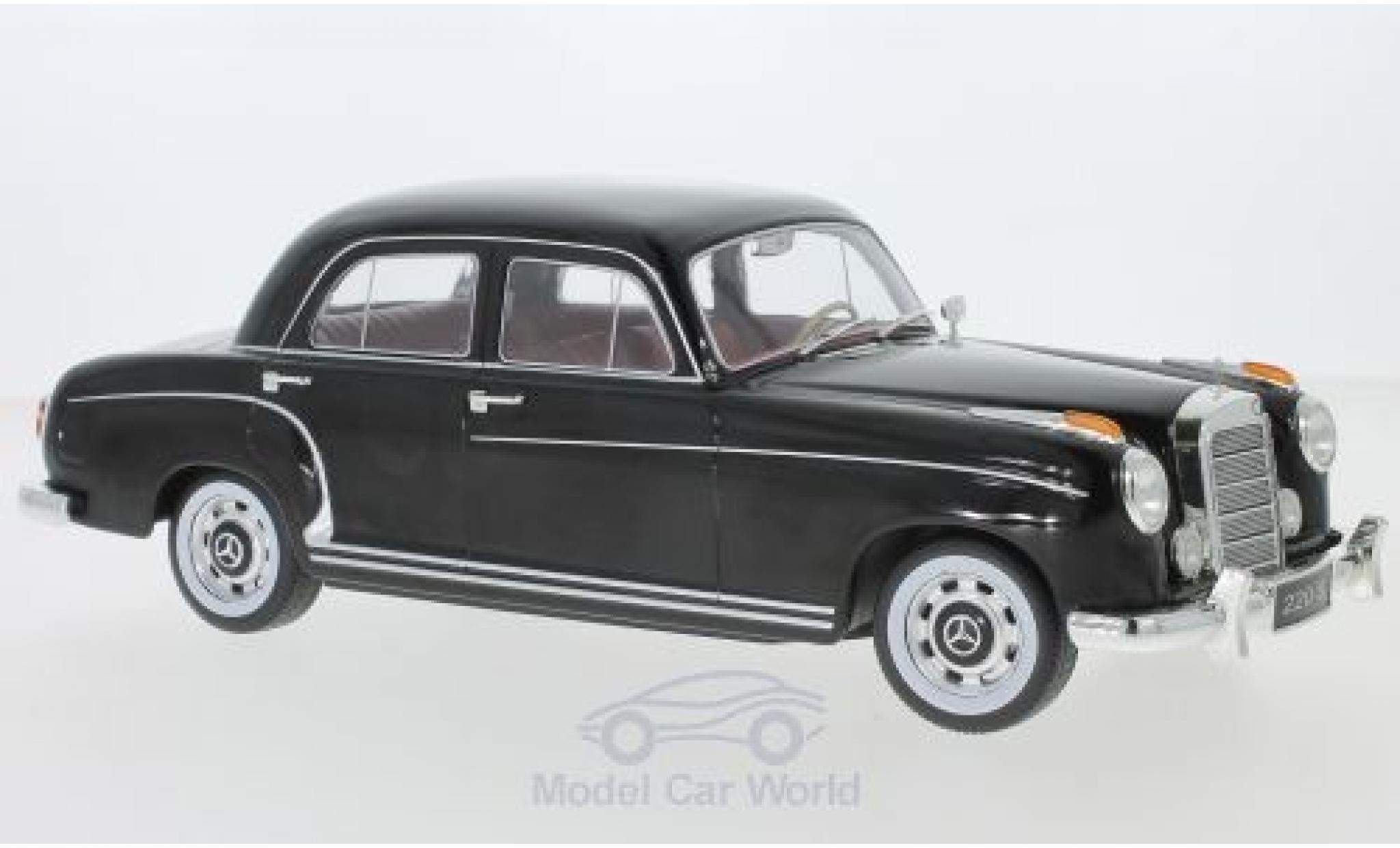 Mercedes 220 1/18 KK Scale S Limousine (W180 II) noire 1956