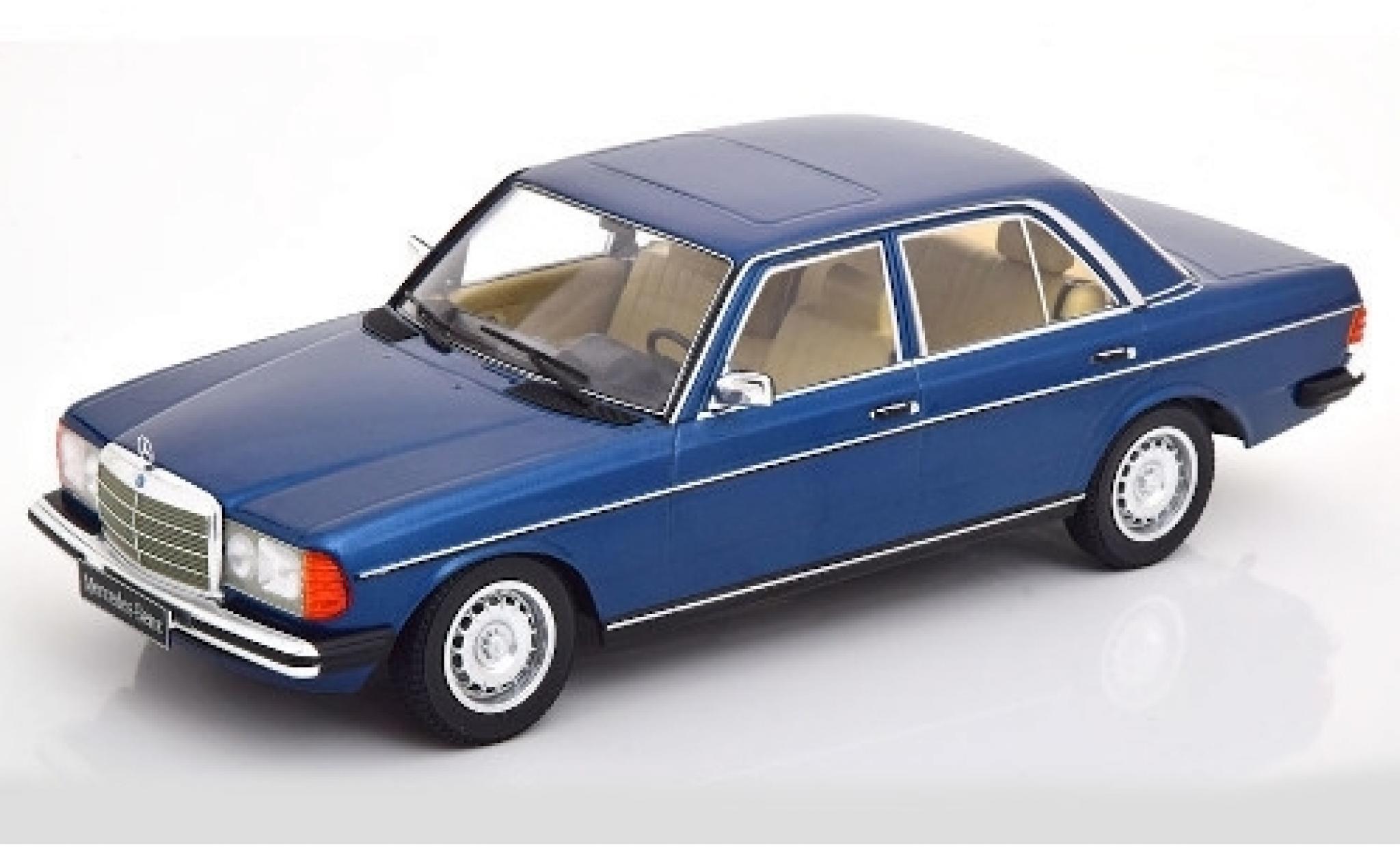 Mercedes 280 1/18 KK Scale E (W123) metallise bleue 1977