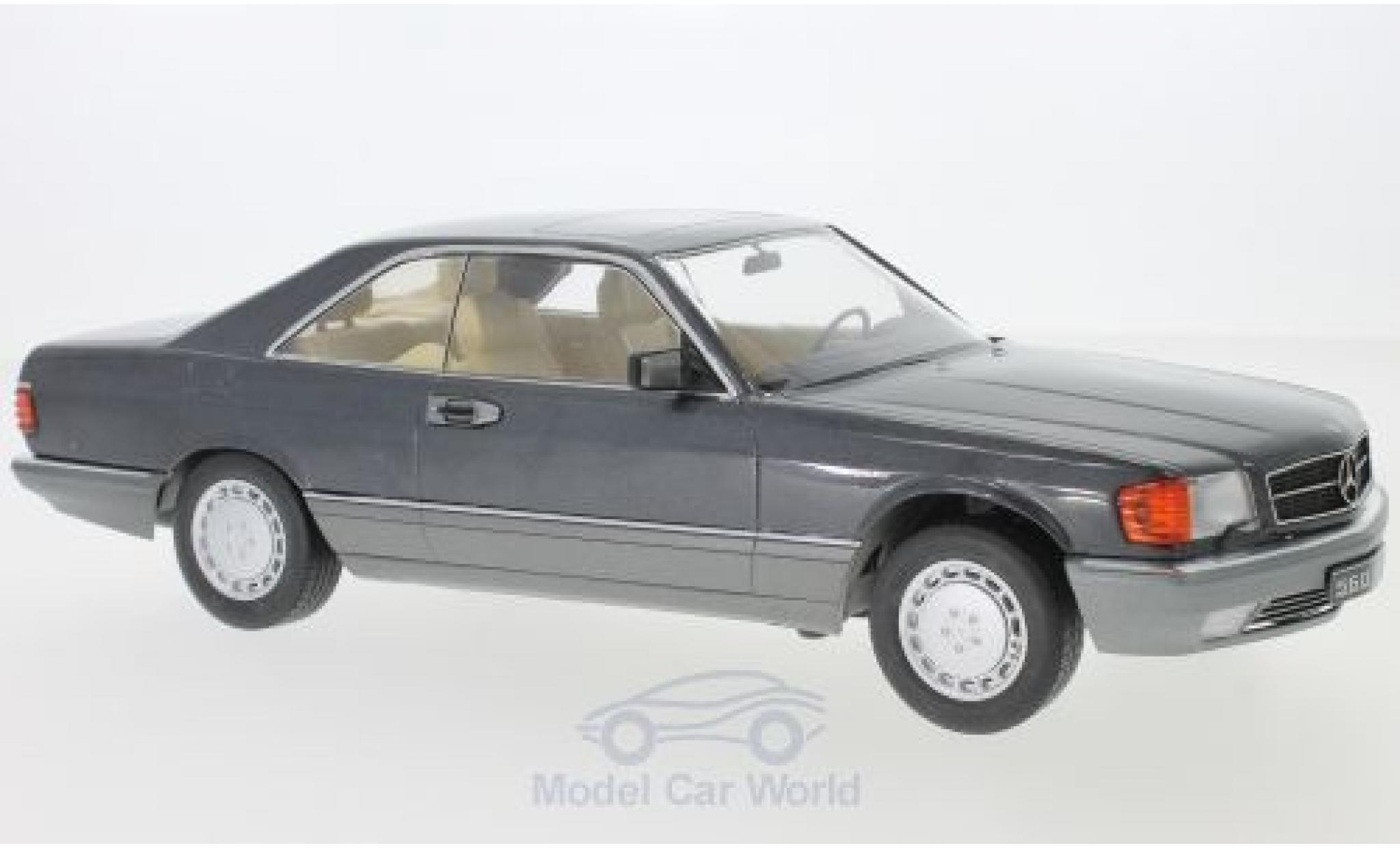 Mercedes 560 1/18 KK Scale SEC (C126) métallisé anthrazit 1985