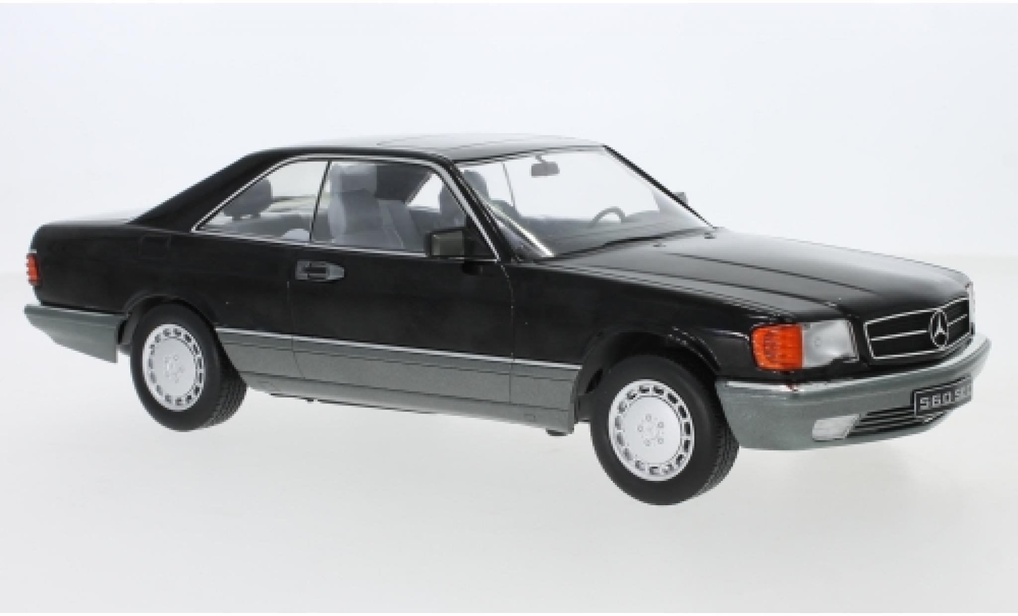 Mercedes 560 1/18 KK Scale SEC (C126) noire 1985