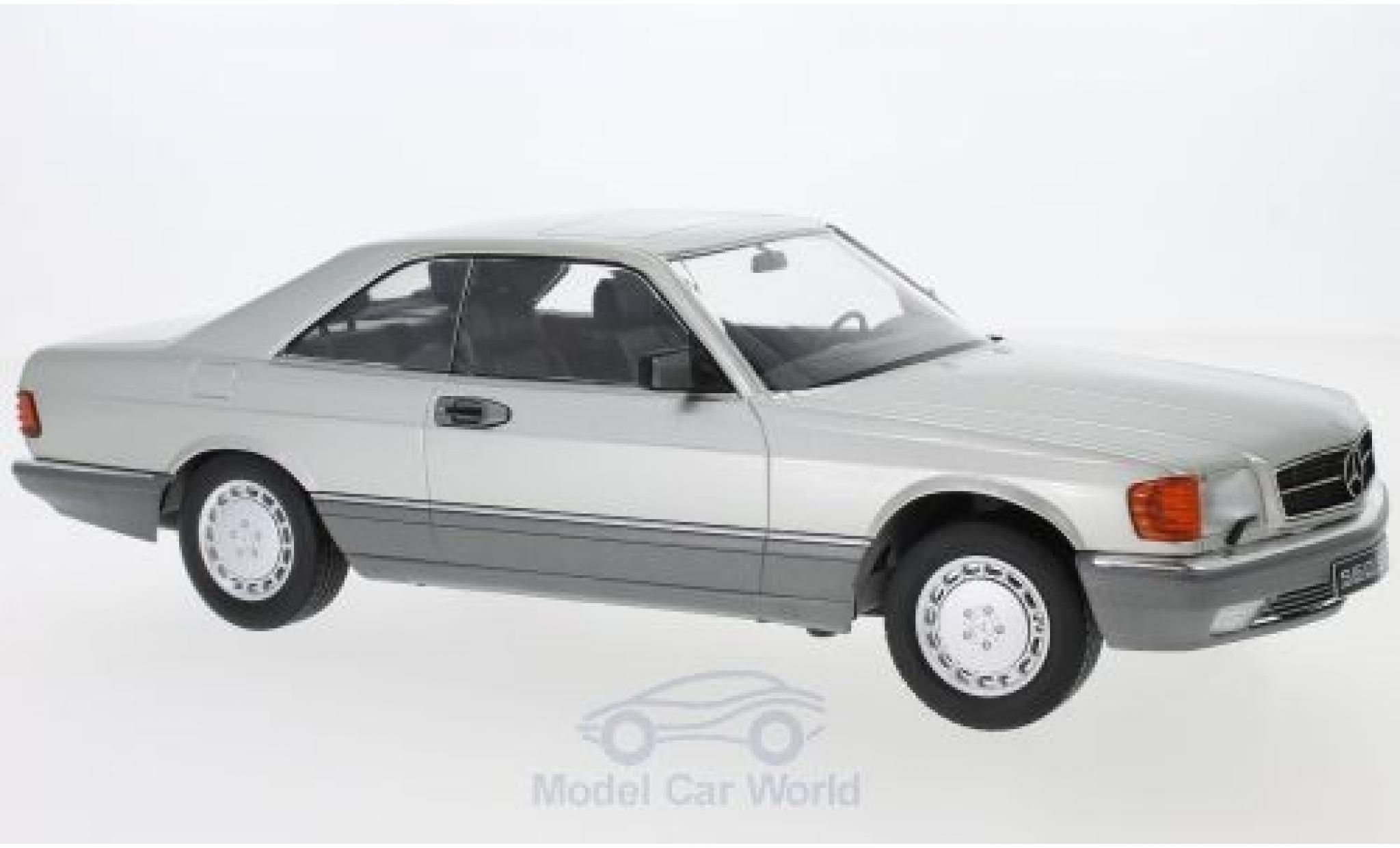 Mercedes 560 1/18 KK Scale SEC (C126) grise 1985