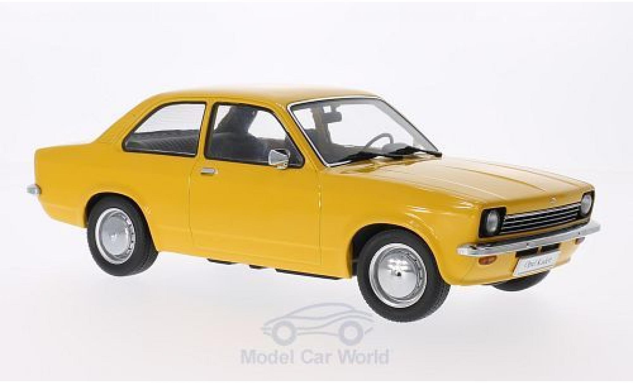 Opel Kadett E 1/18 KK Scale C Limousine jaune Türen und Hauben sind nicht zu öffnen