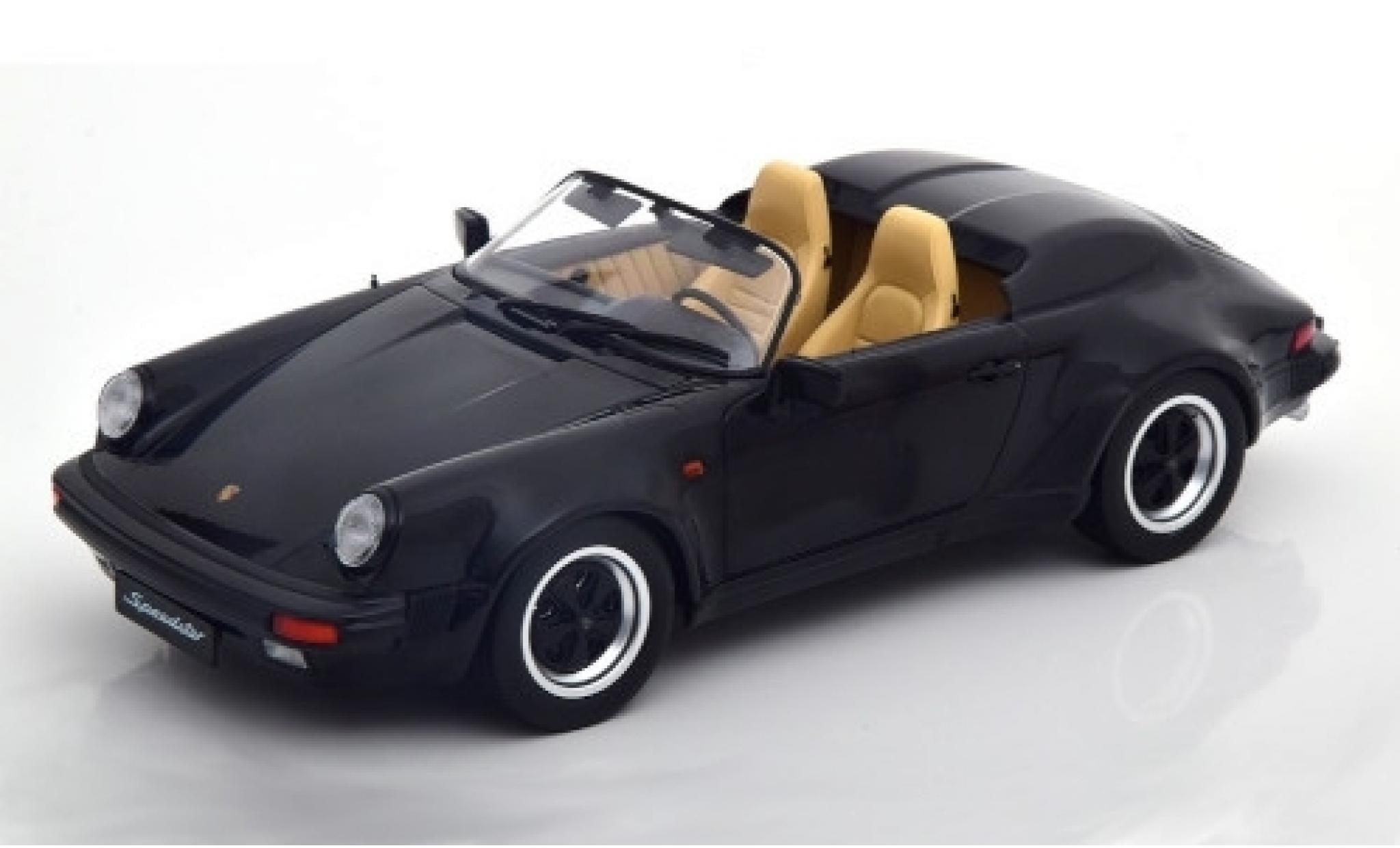 Porsche 930 Speedster 1/18 KK Scale 911 noire 1989