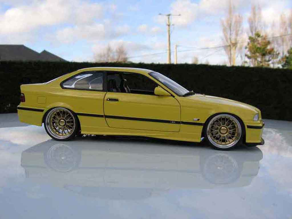 Bmw M3 E36 1/18 Ut Models jaune jantes bbs bords larges